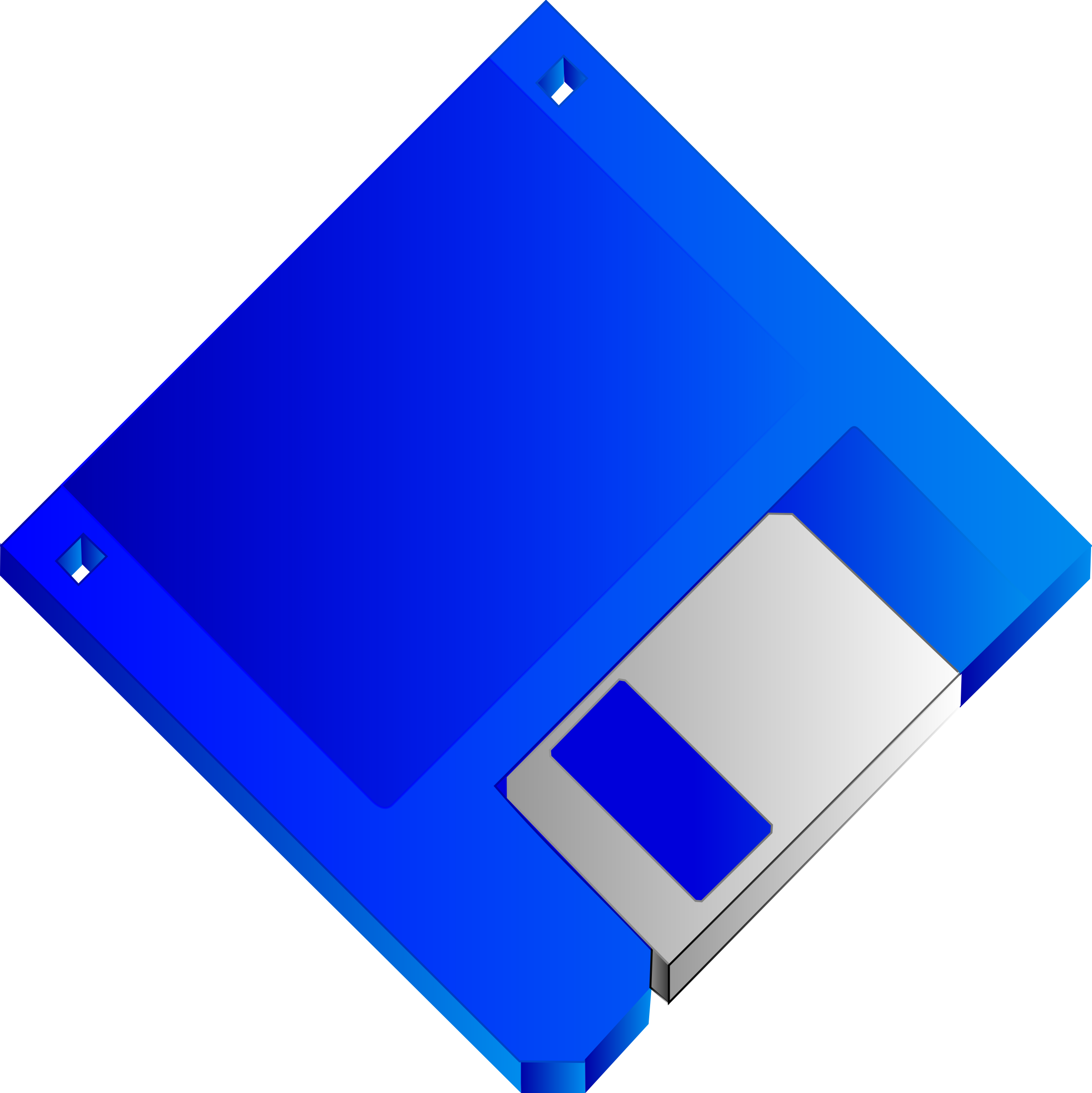3.5 Floppy Disk Blue No label by Sabathius