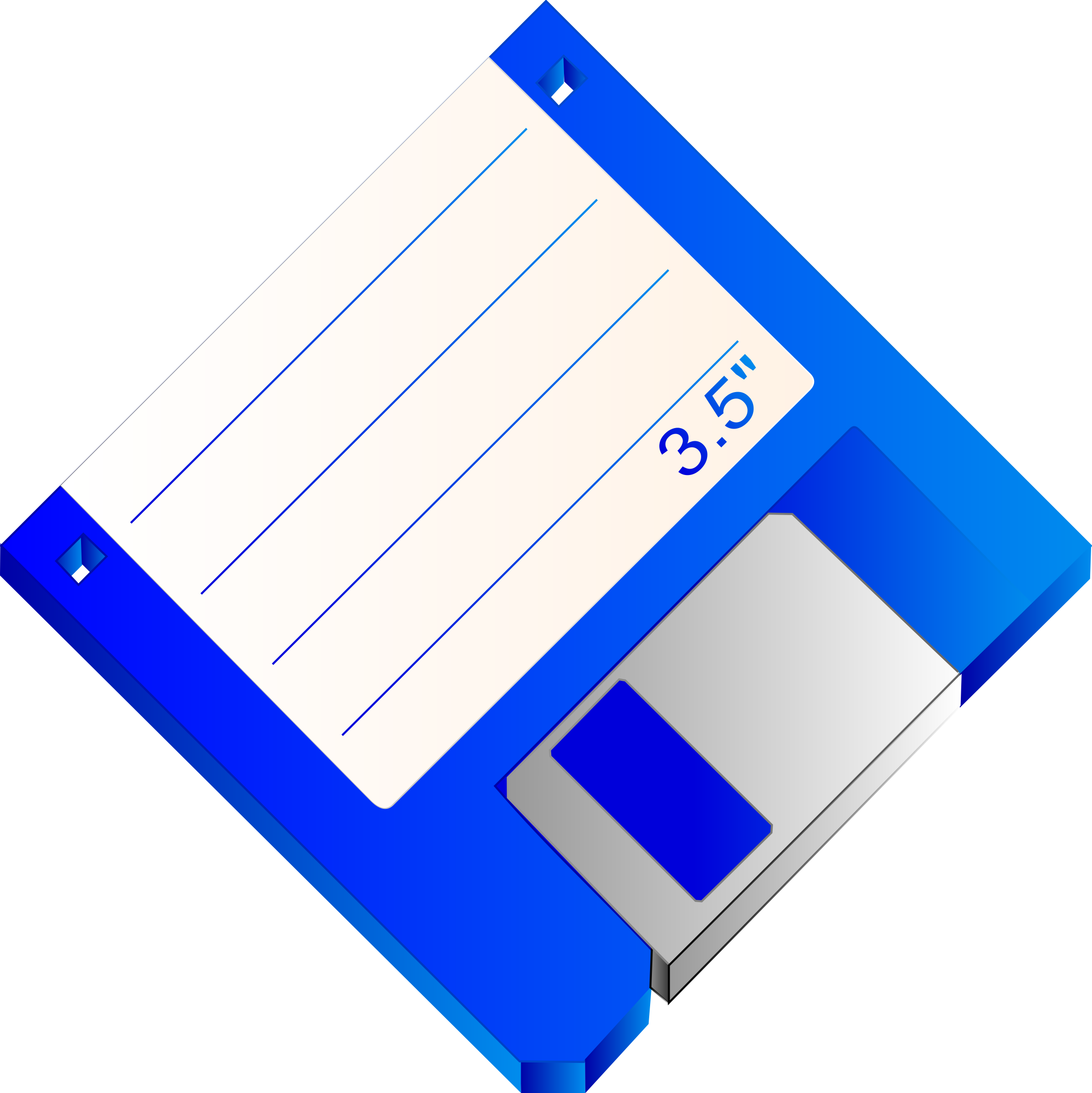 3.5 Floppy Disk Blue Labelled by Sabathius