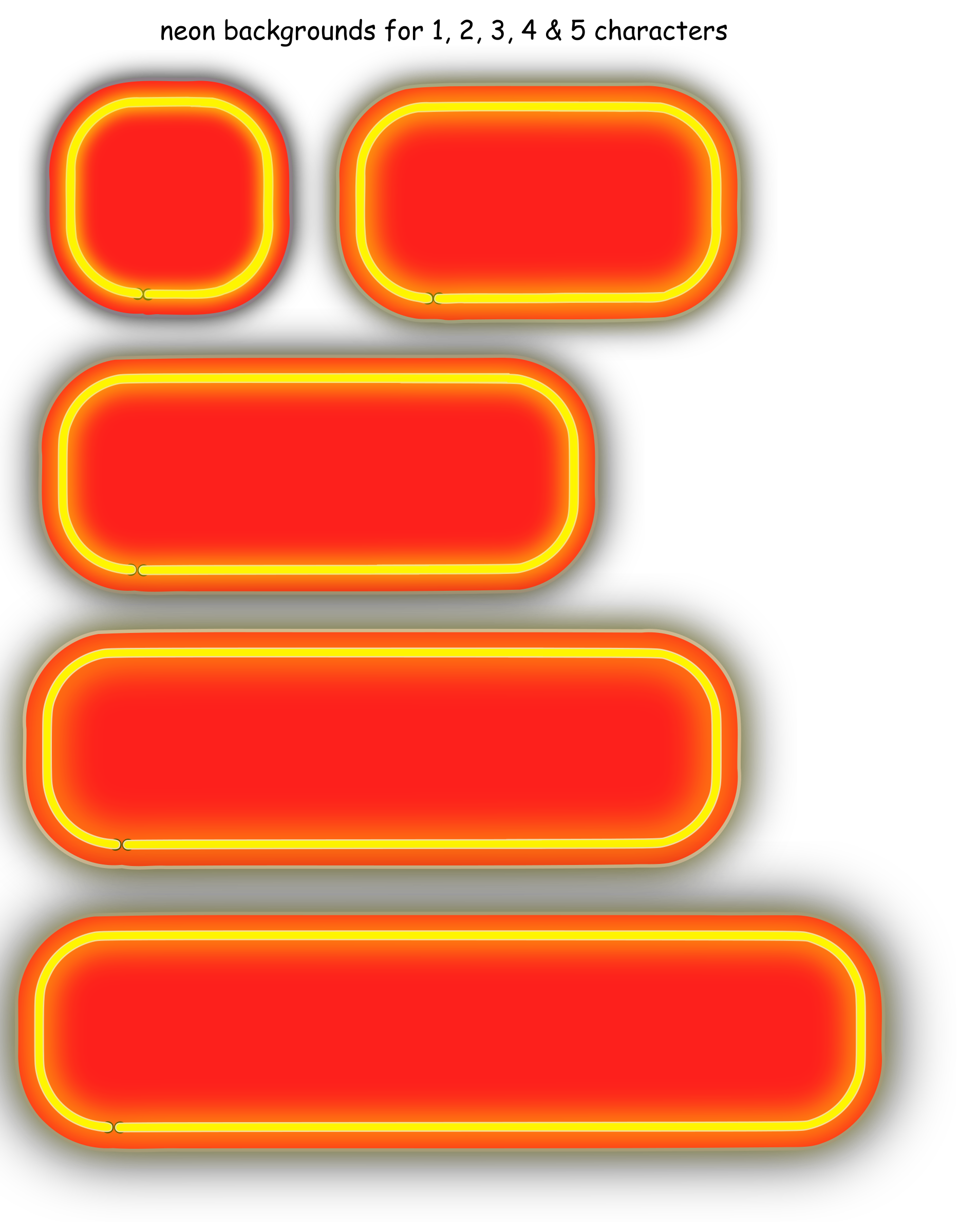 Neon Numerals-backgrounds by rwwgub