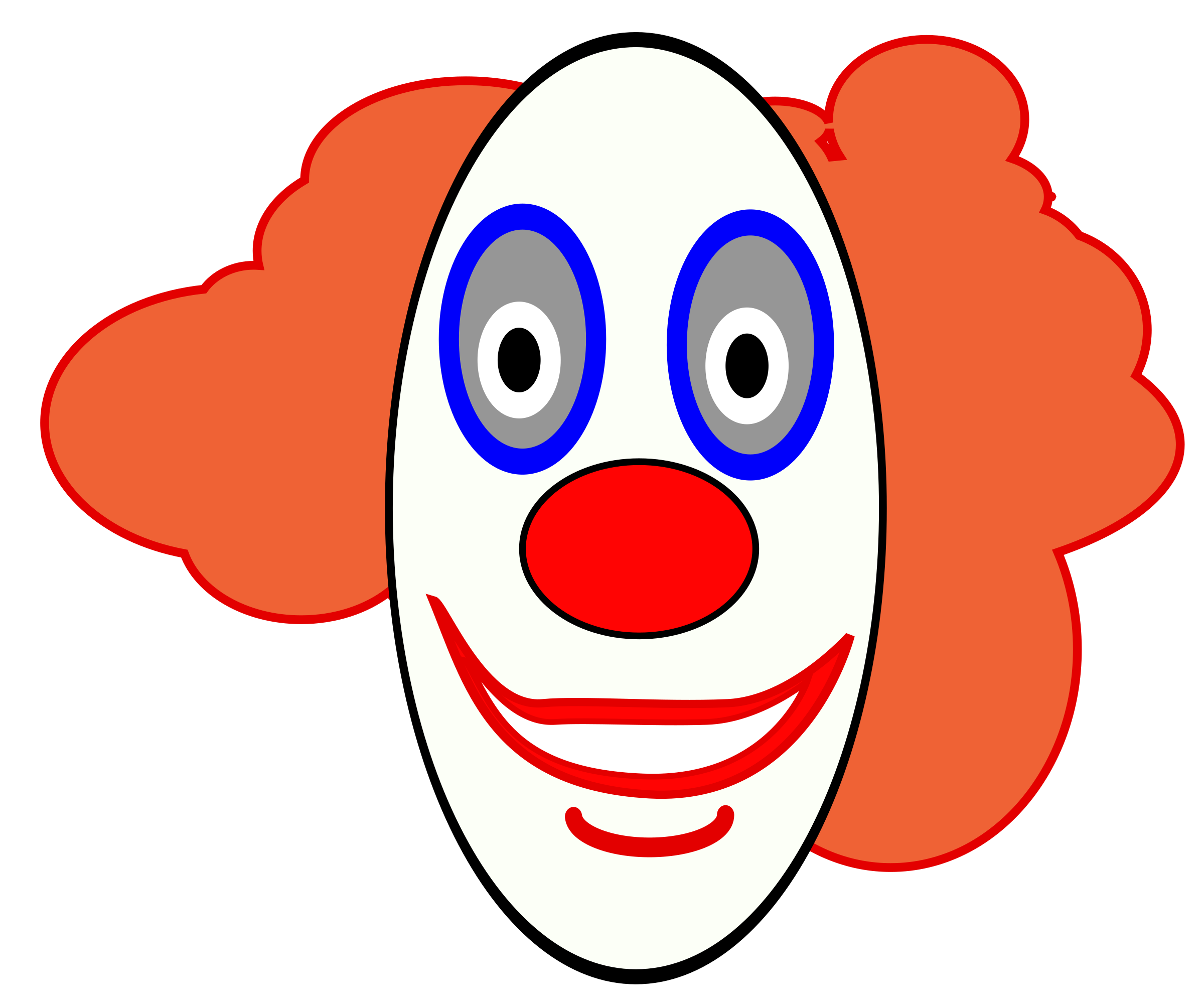 Creepy Clown Face by FunDraw_dot_com