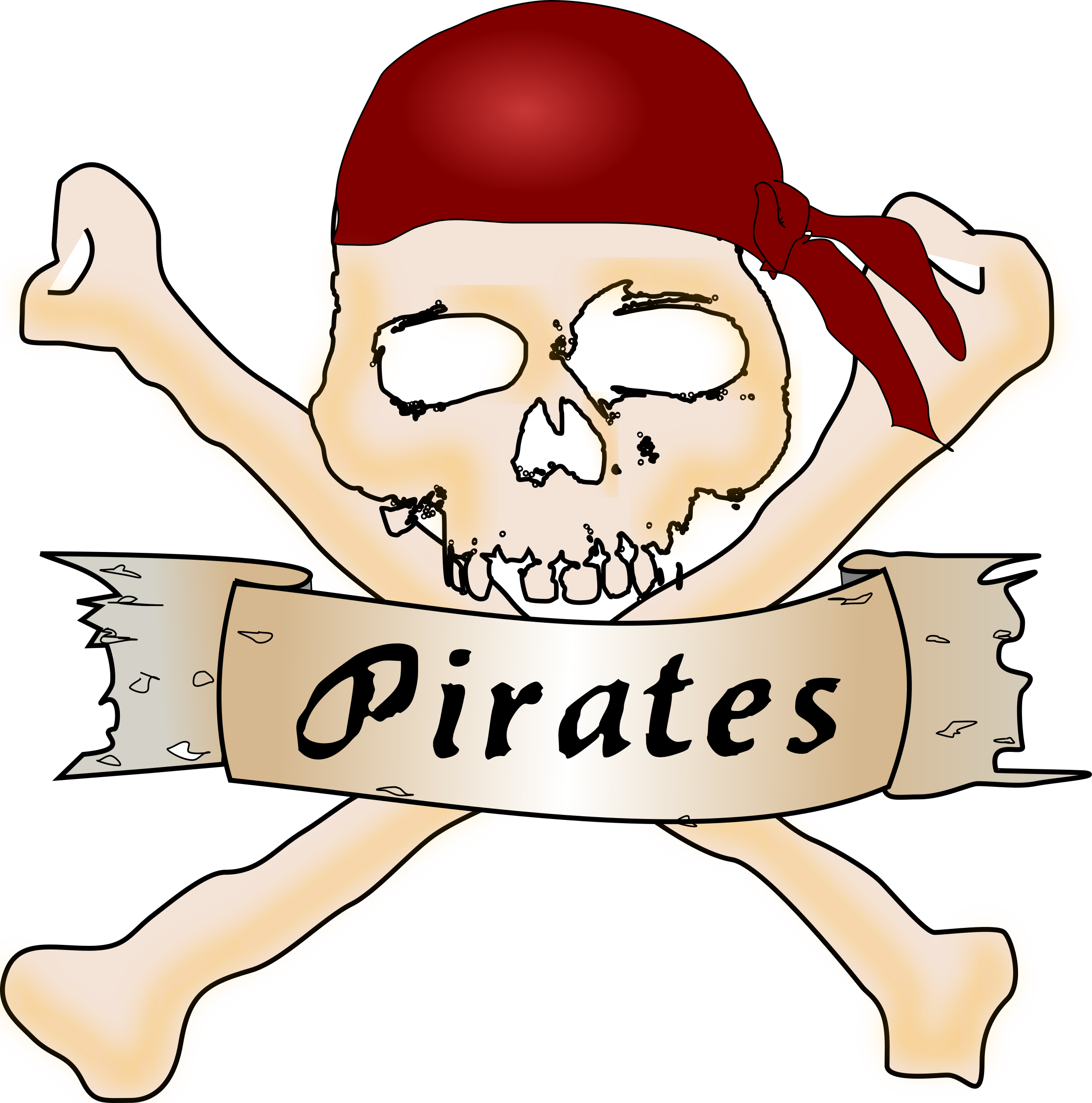 Pirate skull by Chrisdesign