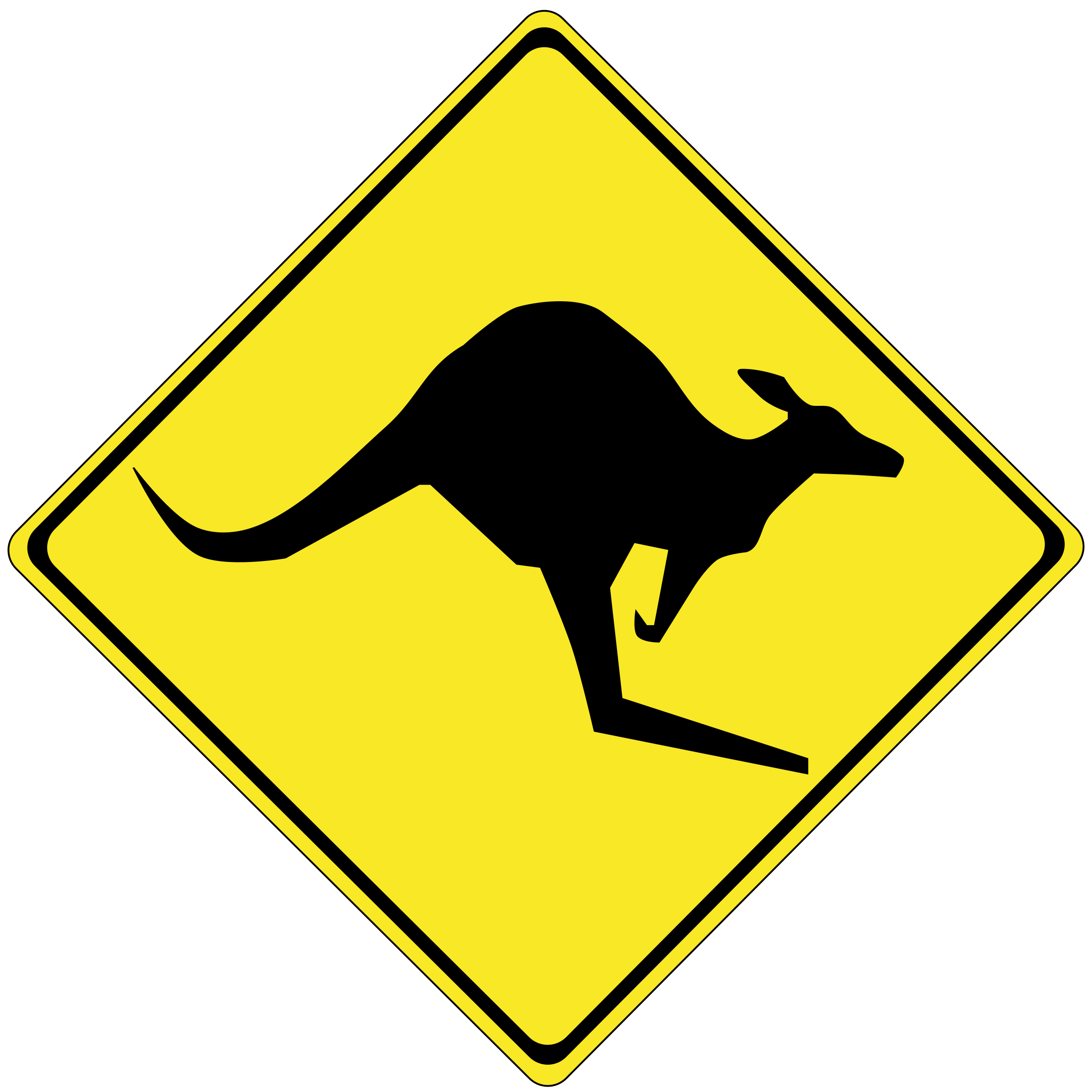 Warning kangaroos ahead by stryker