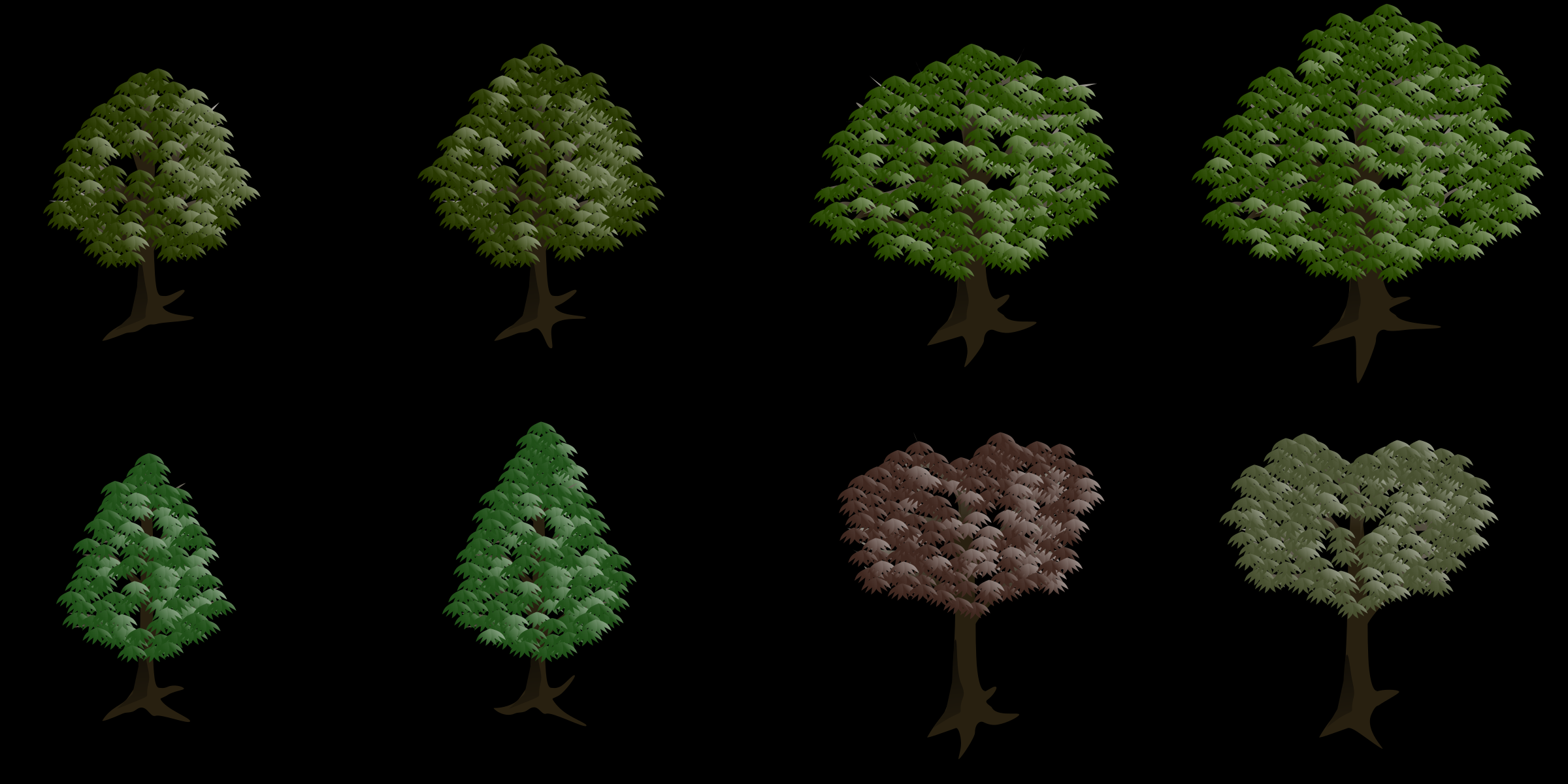 Isometric Tree by edykajang