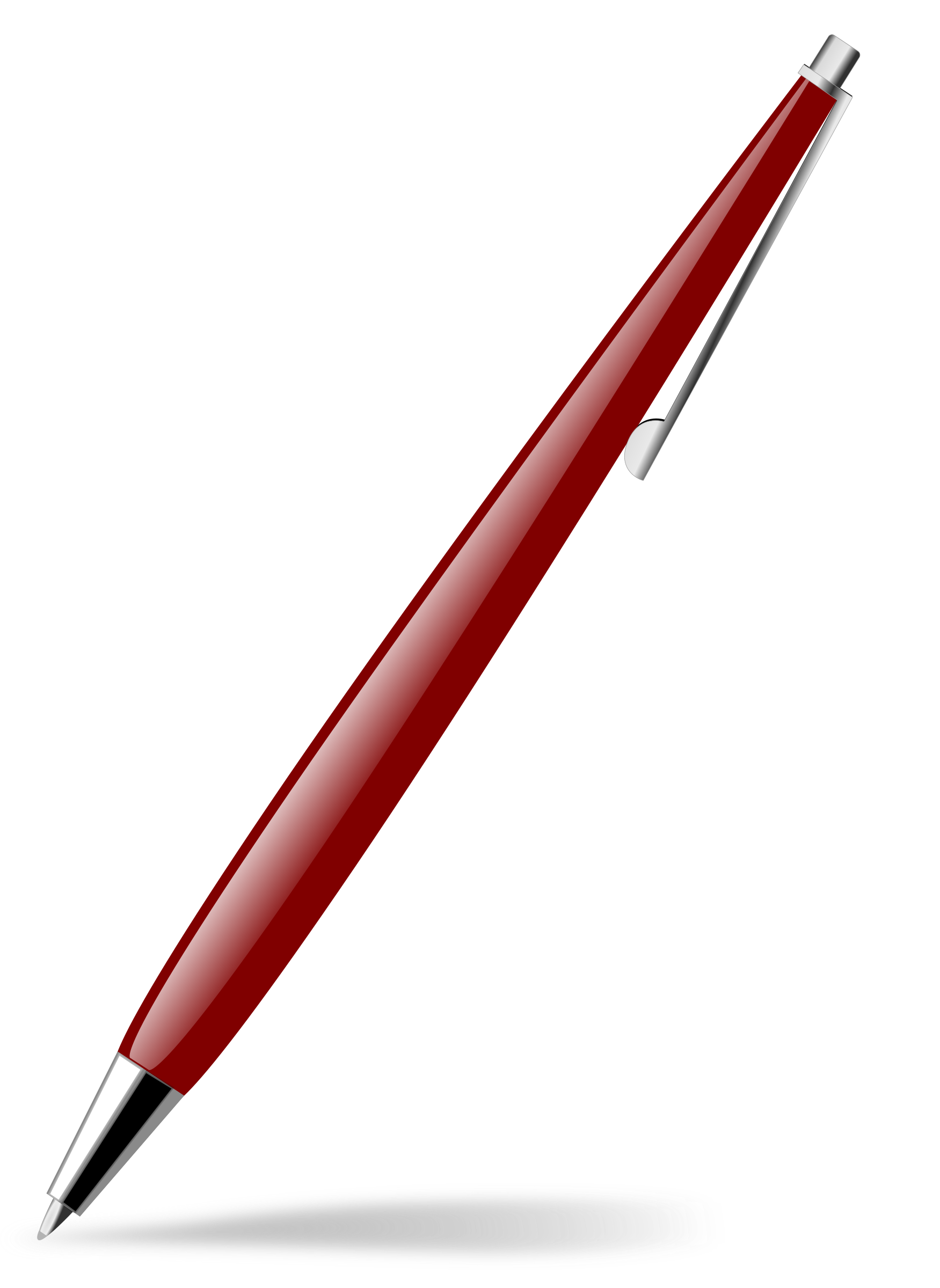 red glossy pen by Chrisdesign