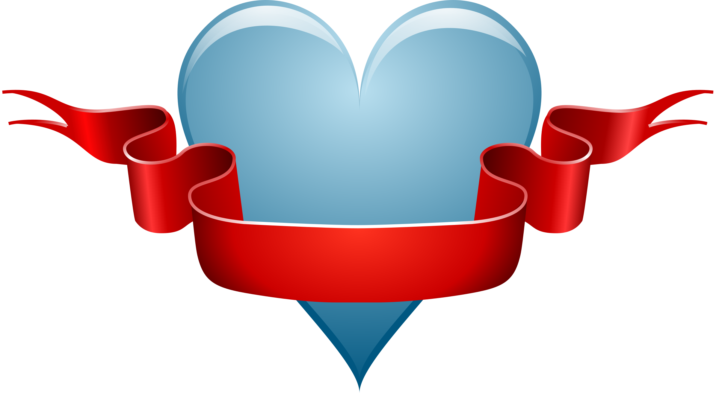 heart & ribbon by Andy