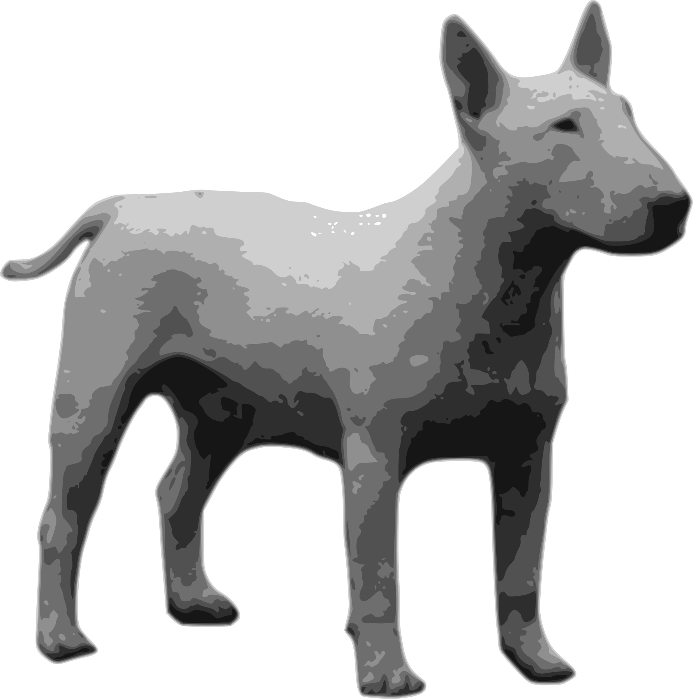 bullterrier grayscale by drunken_duck