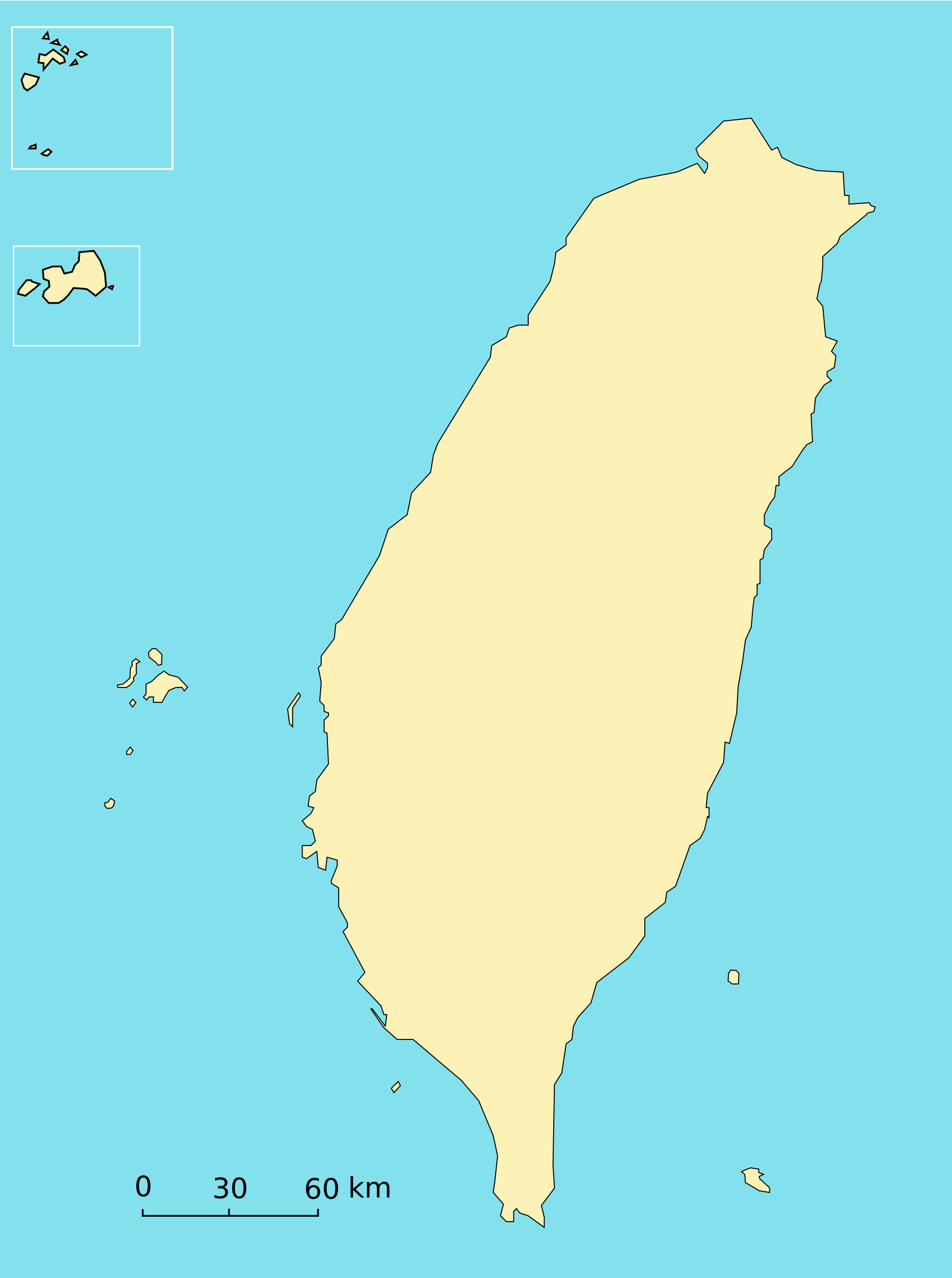 Taiwan Map by antontw