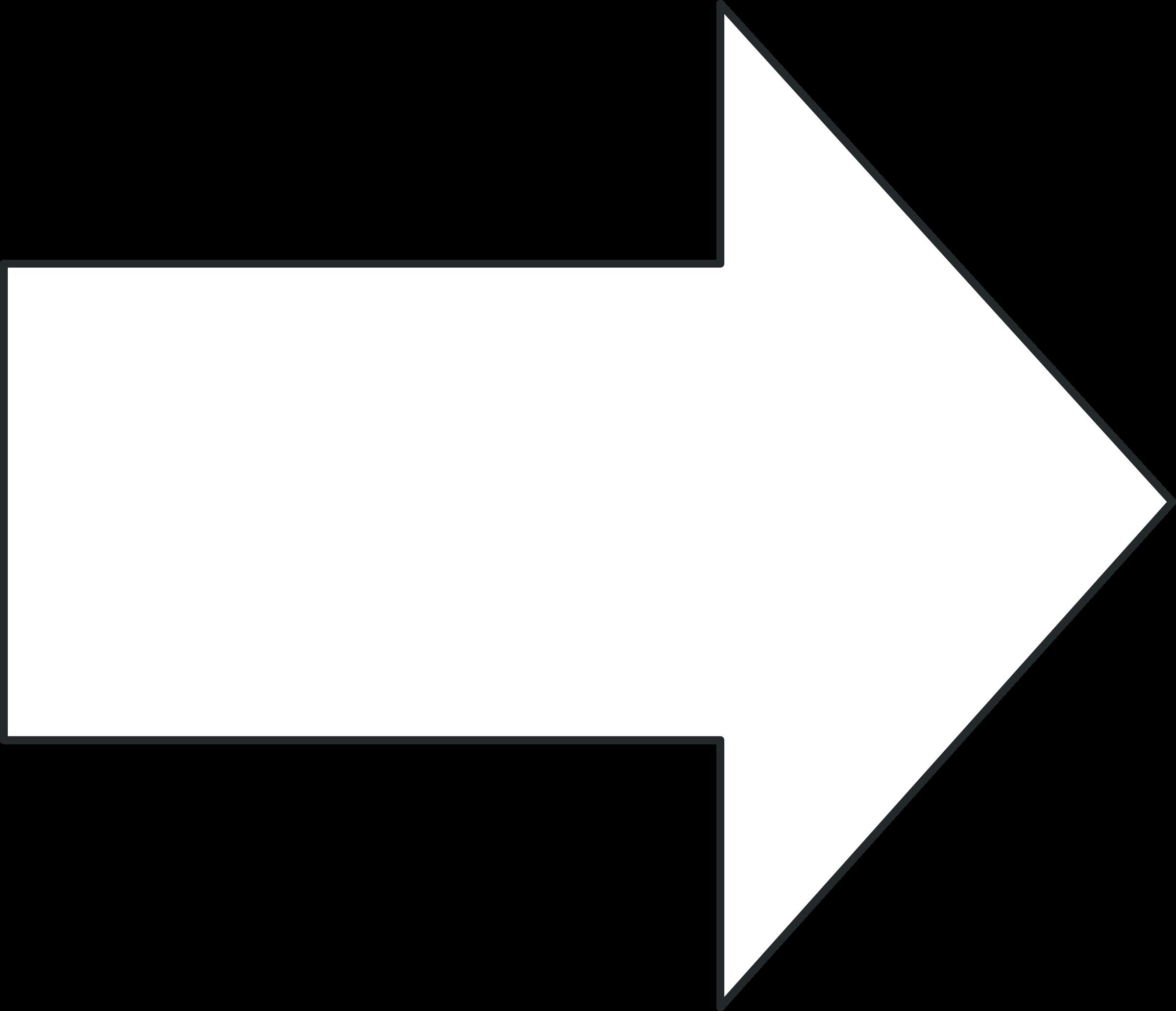 clipart arrow outline - photo #10