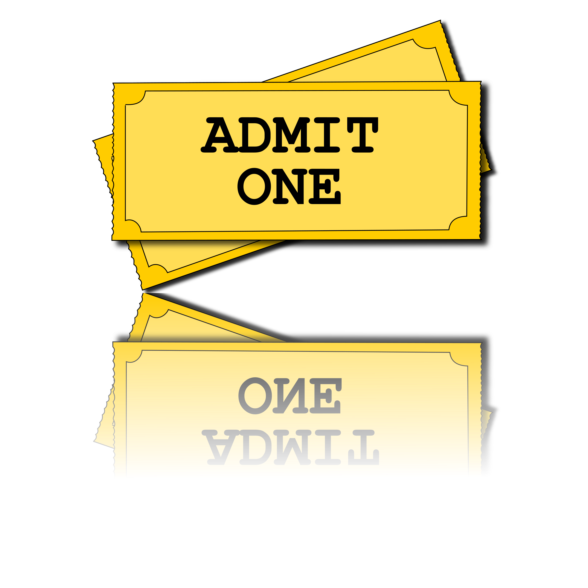 clipart movie tickets rh openclipart org clipart ticket cinéma movie ticket clipart black and white