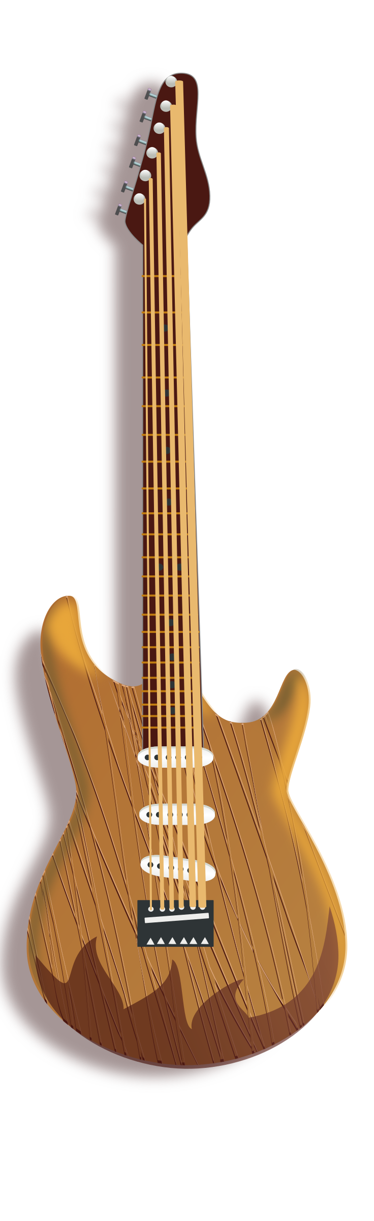 wood guitar by rg1024