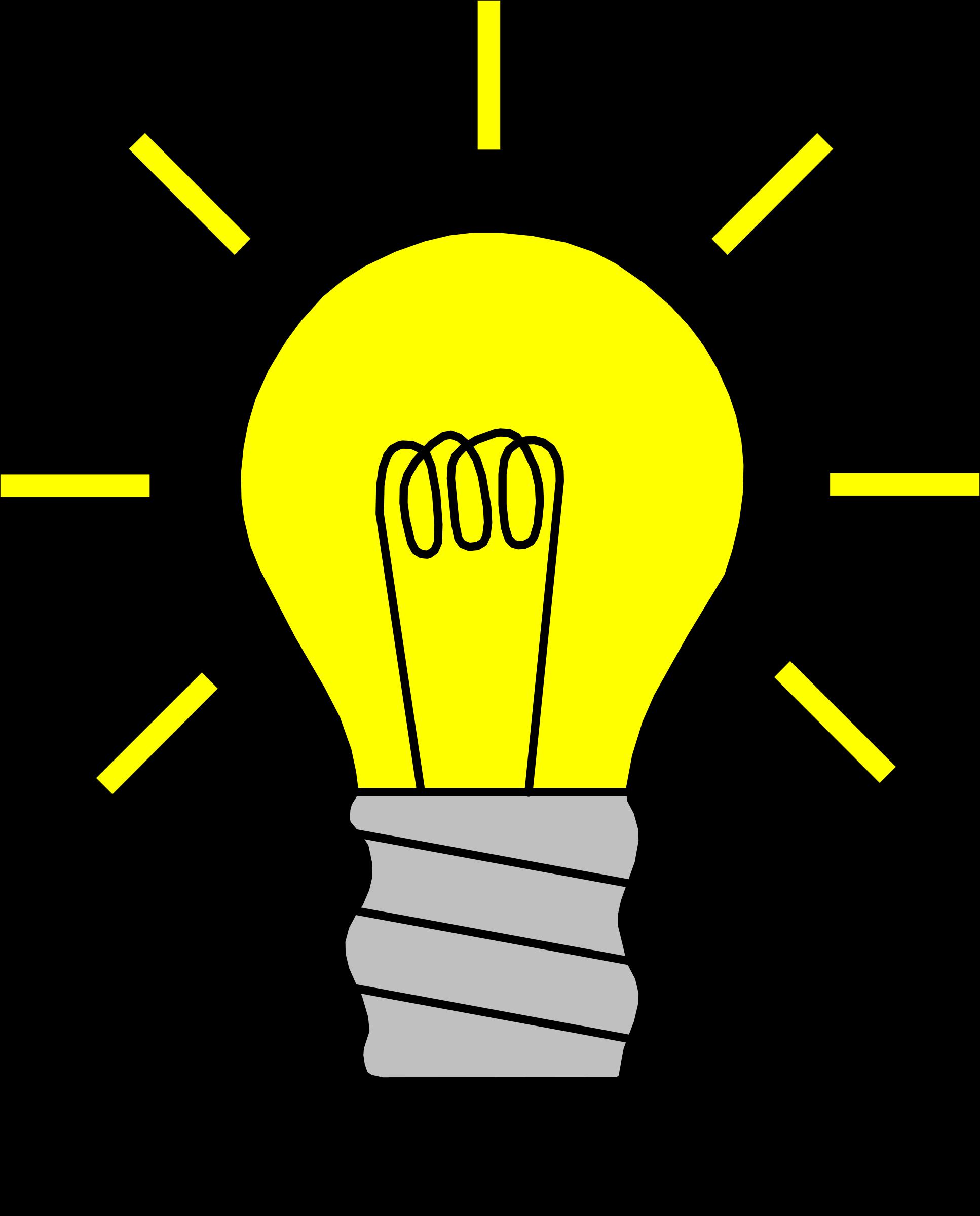 Clipart - Light Bulb On