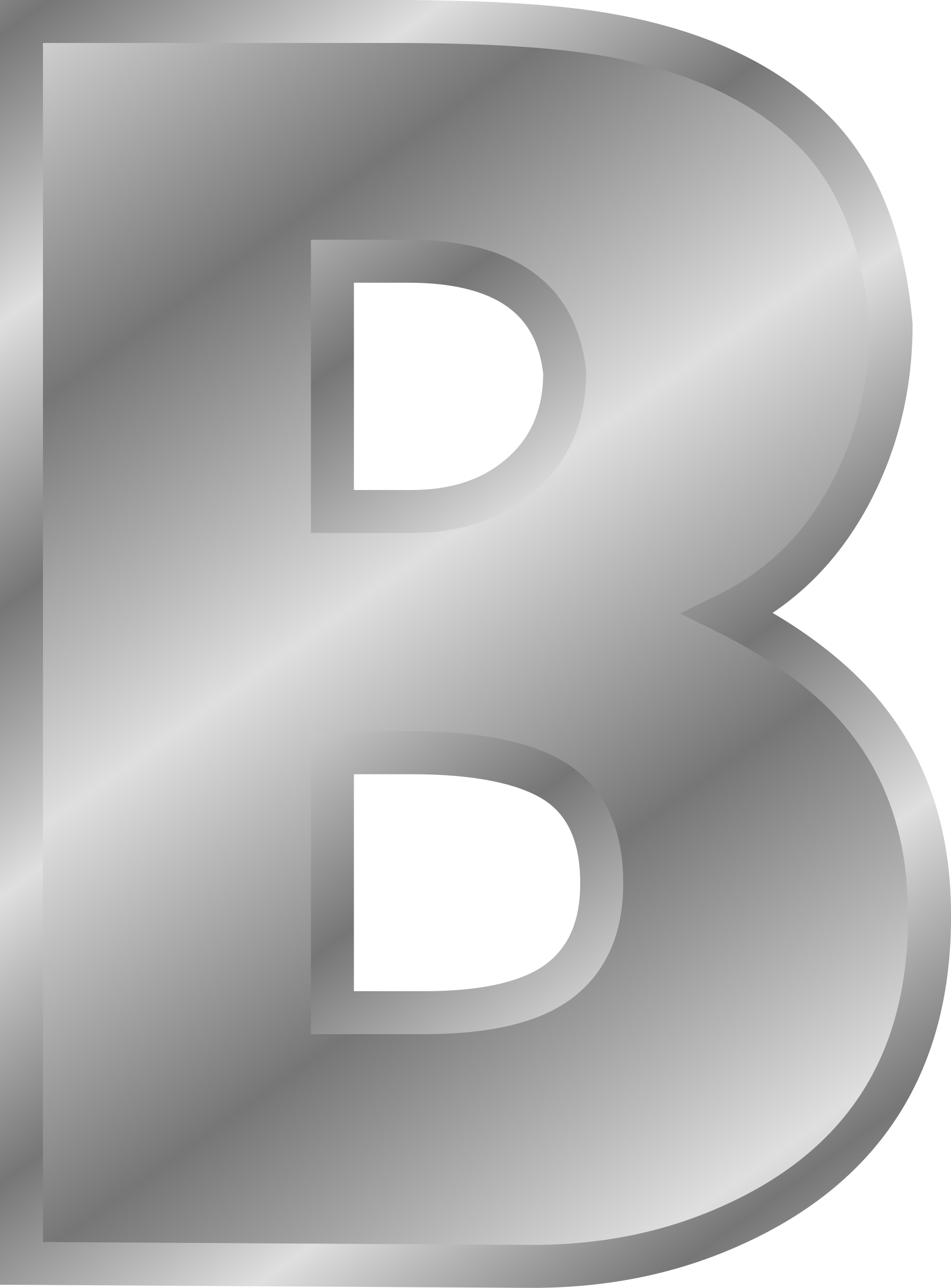 big image png With silver alphabet letters
