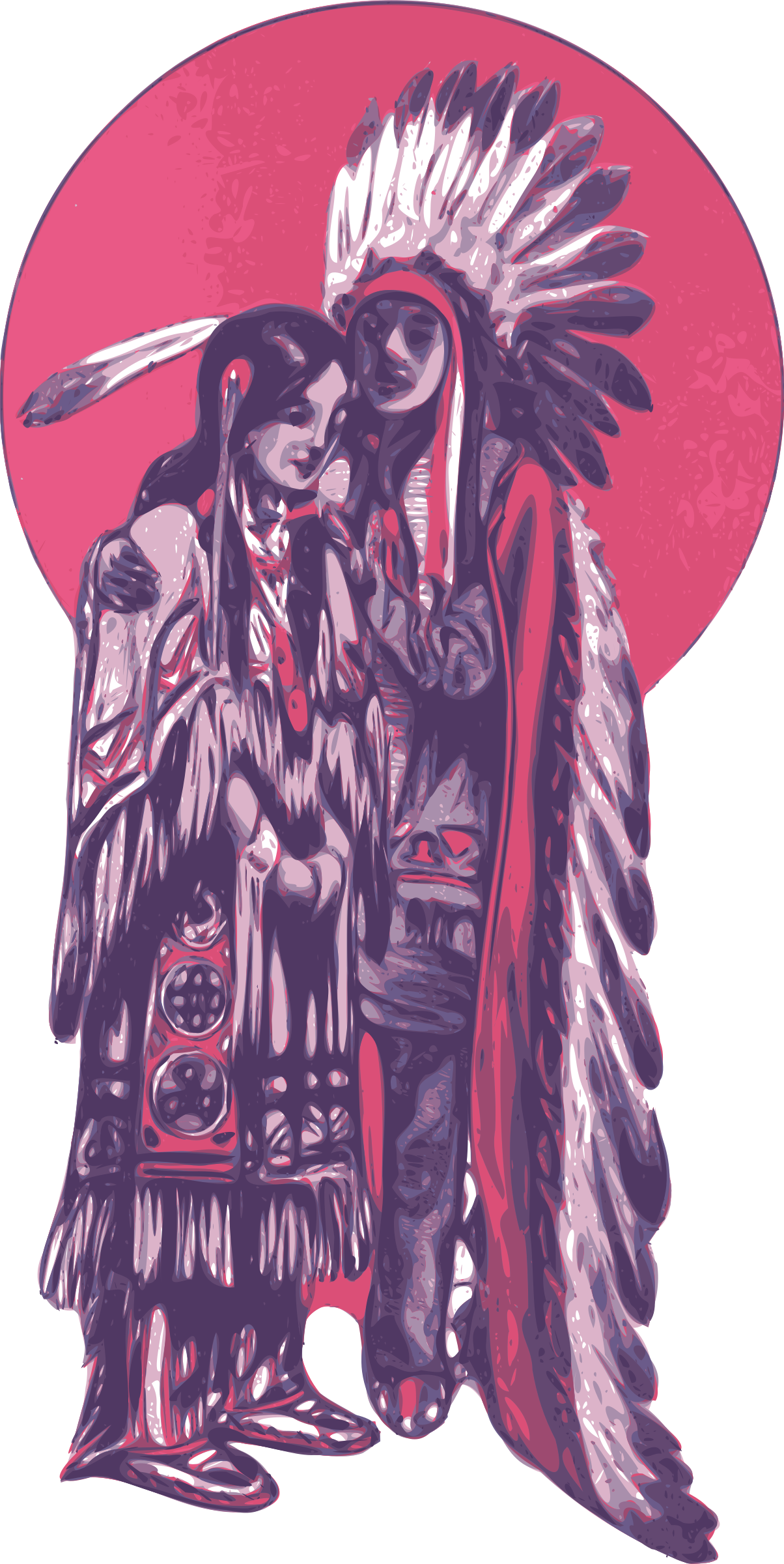 Native American Couple by j4p4n