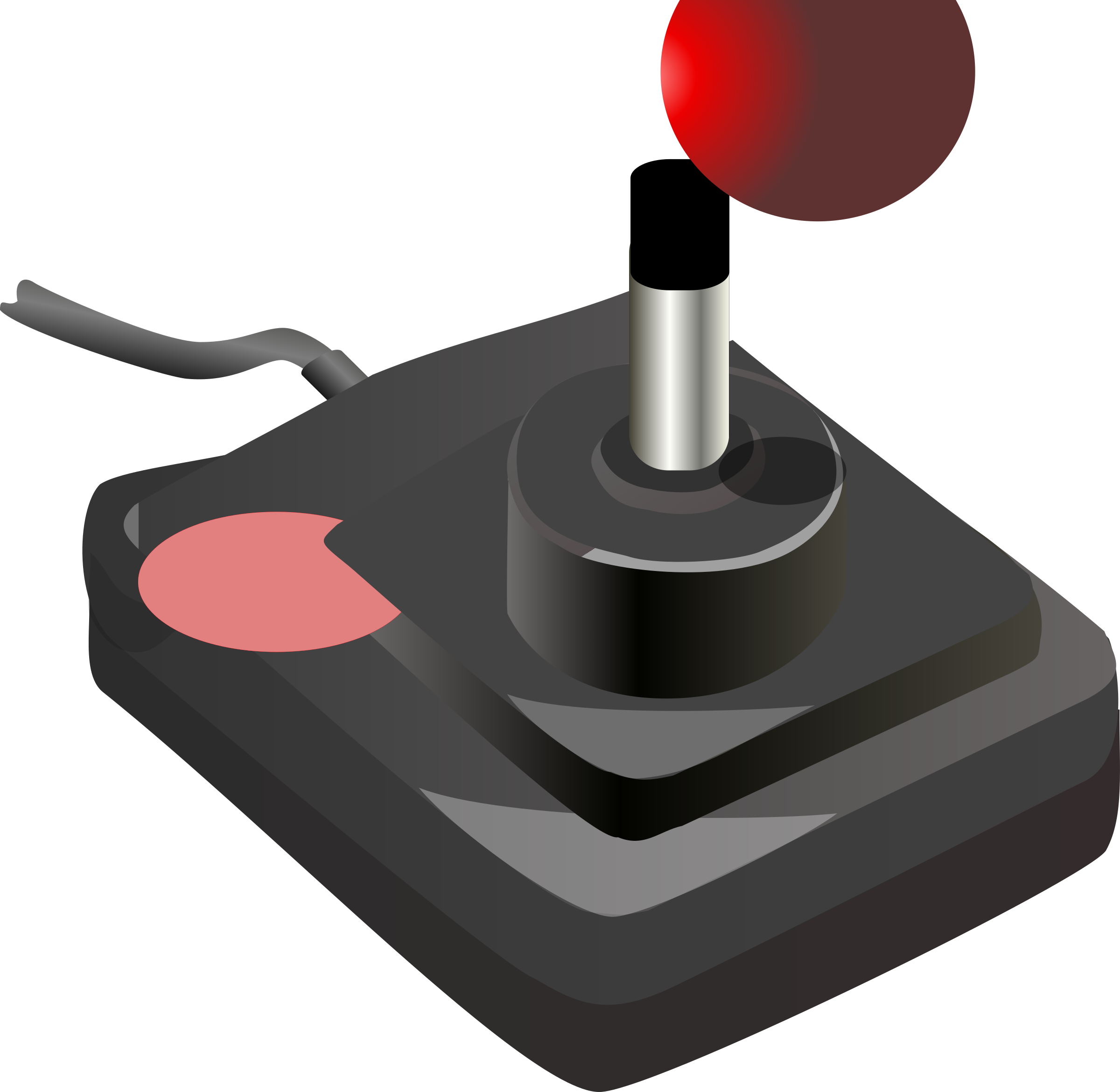 joystick black red petri 01 by Anonymous