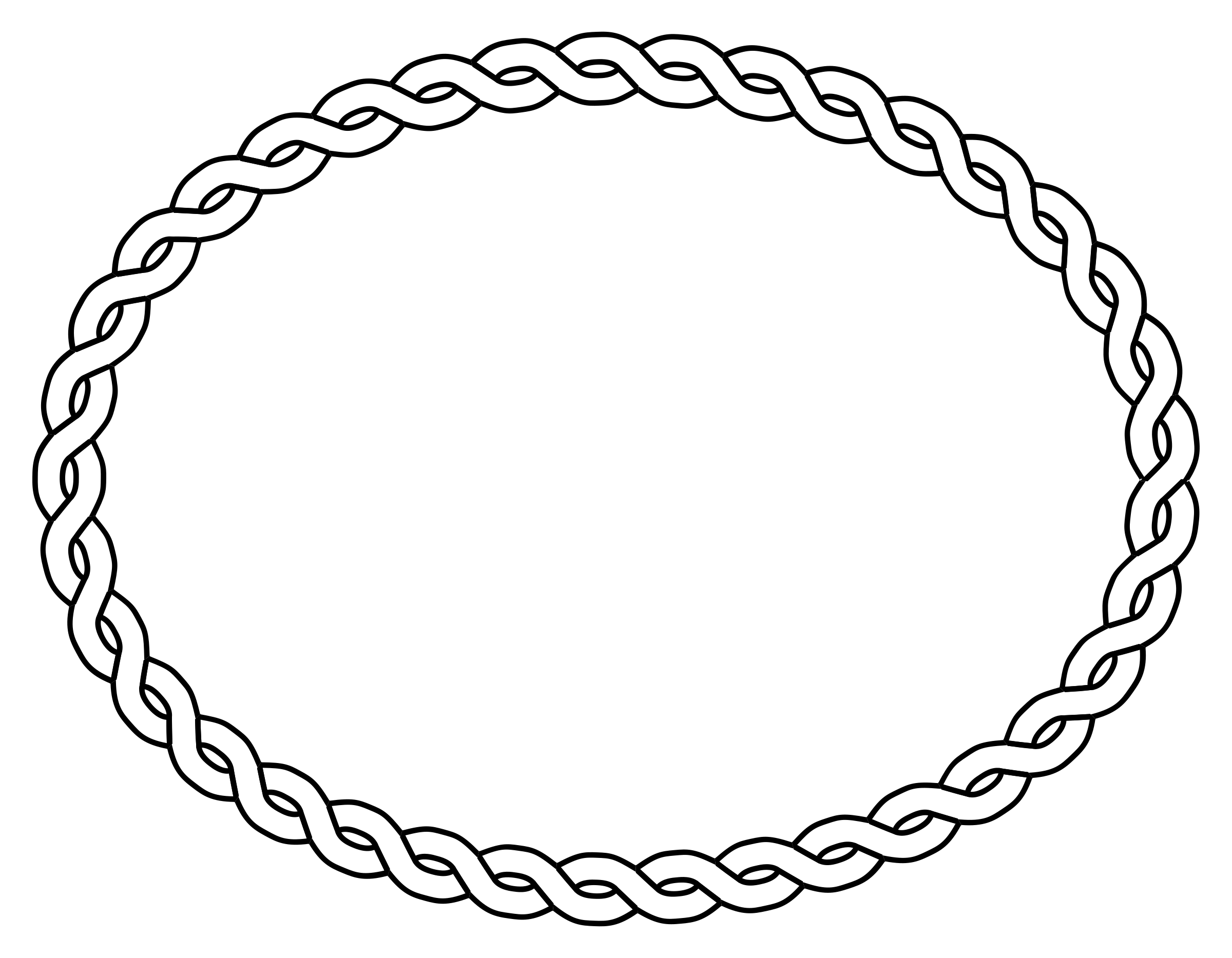 rope border oval by pitr