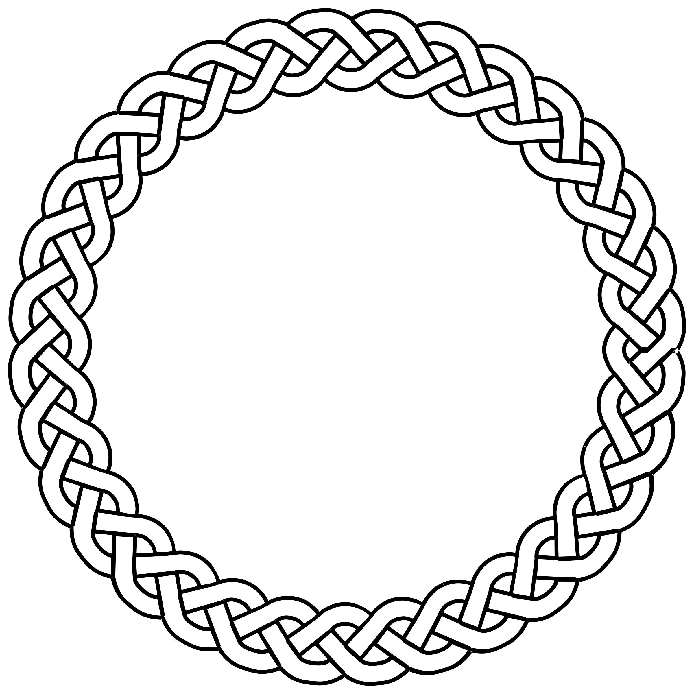 clipart rope border circle - photo #44