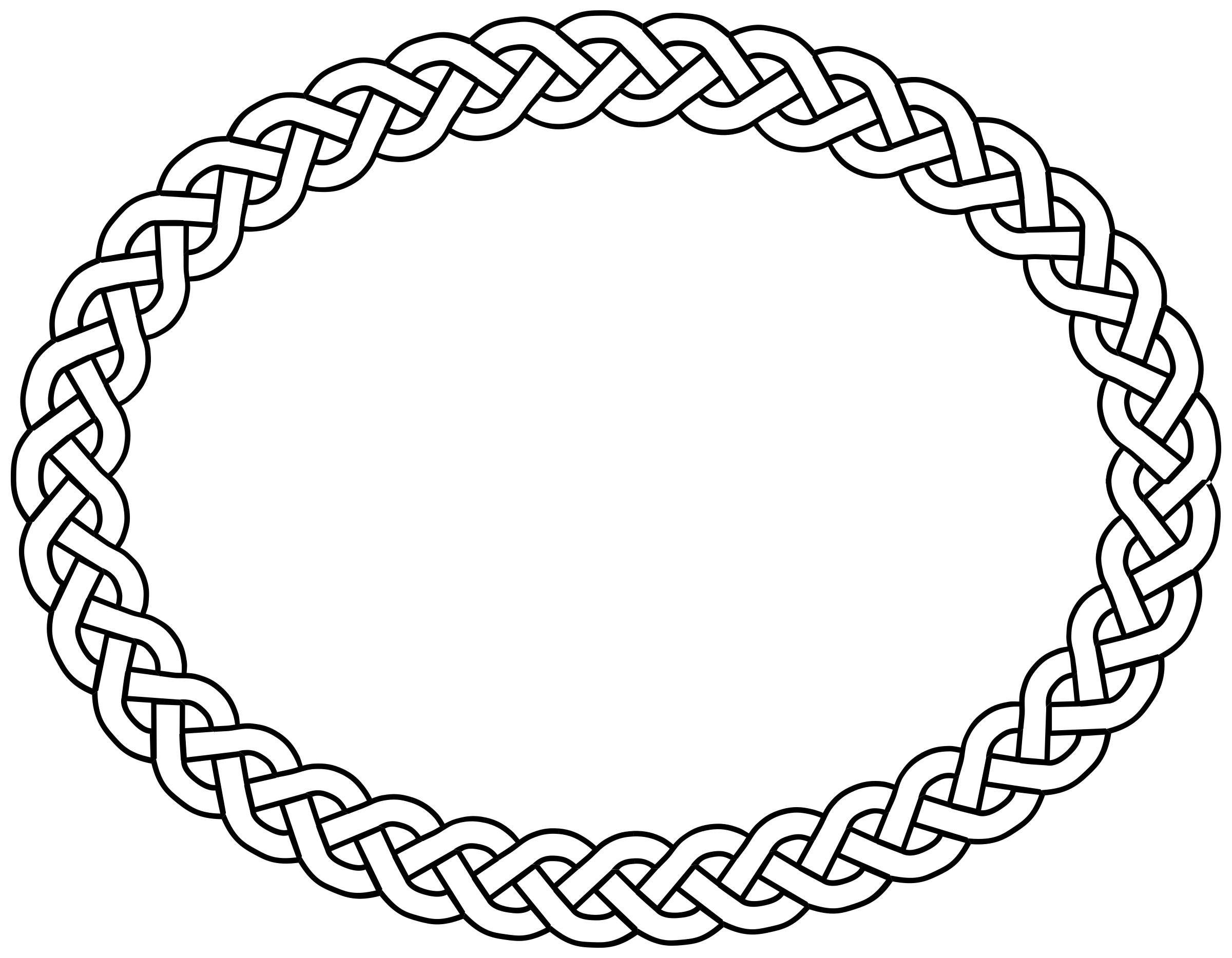 3-plait border oval by pitr