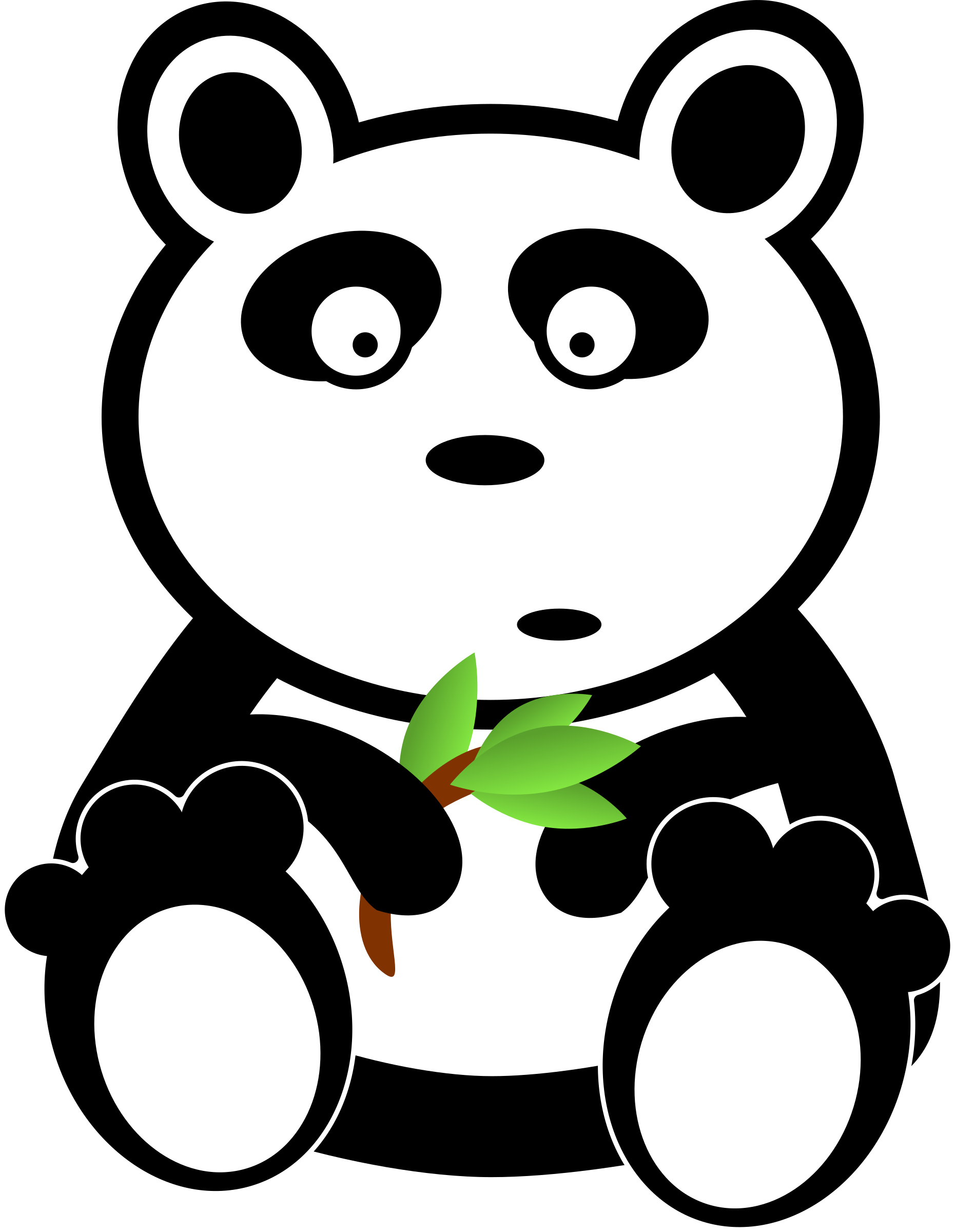 Panda with bamboo leaves by adam_lowe