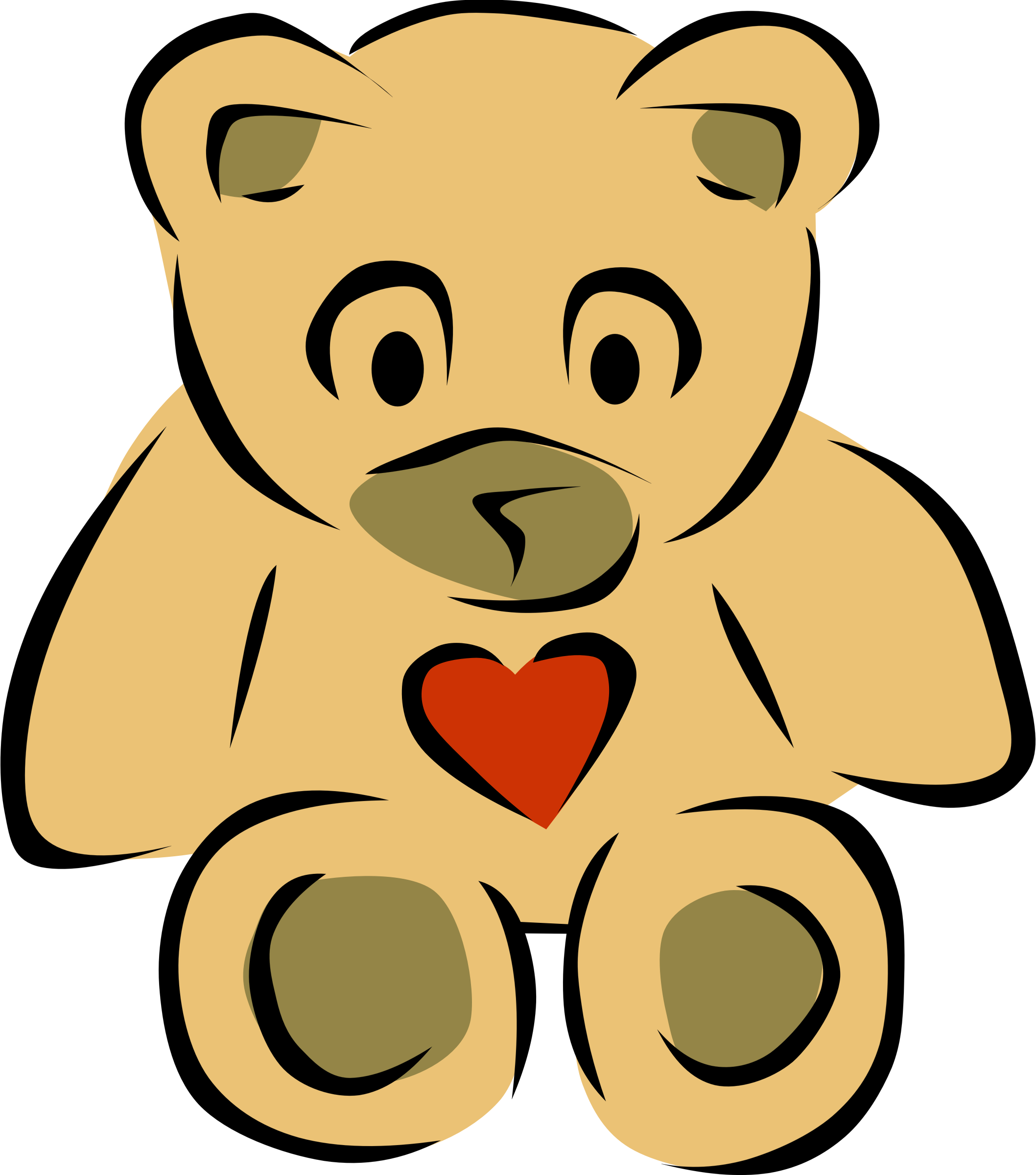 Teddy Bear with heart by Gerald_G