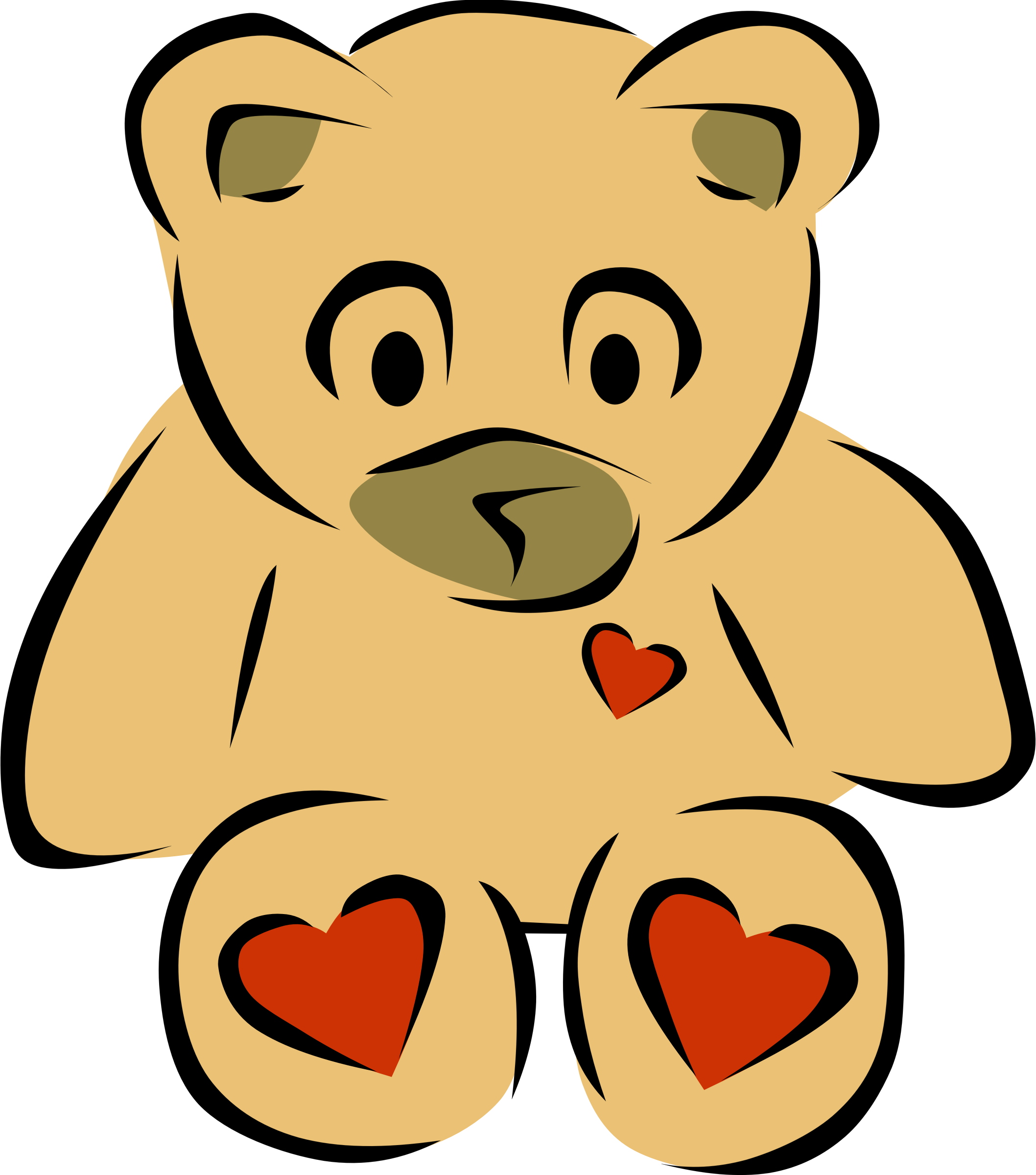Teddy Bear with hearts by Gerald_G