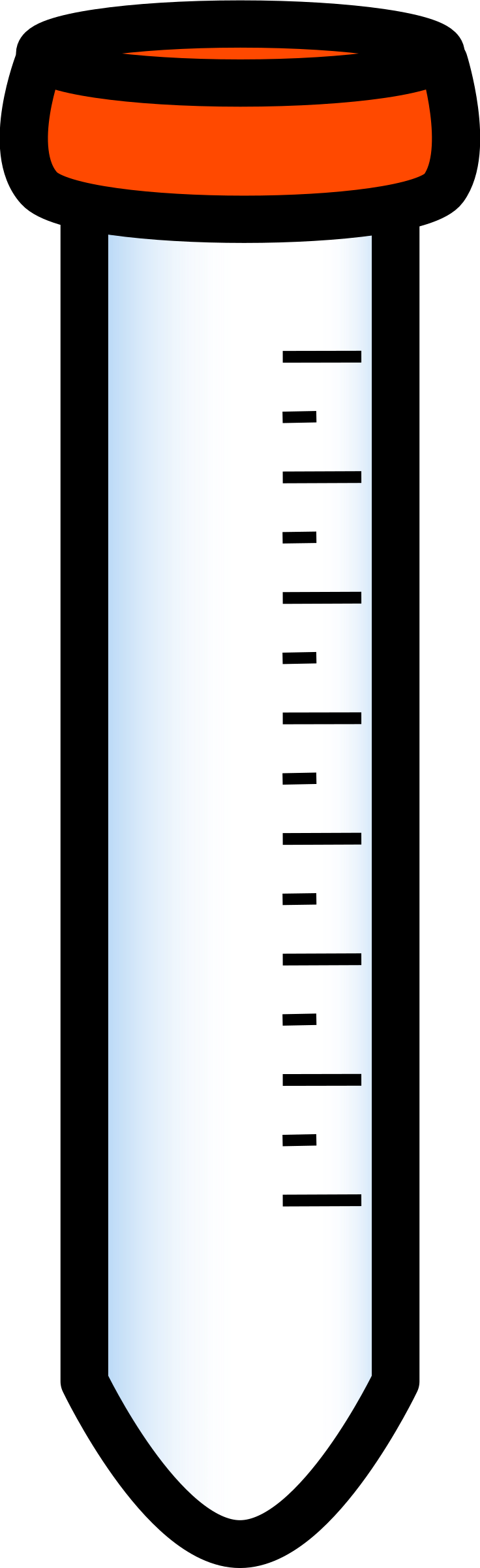 clipart conical tube
