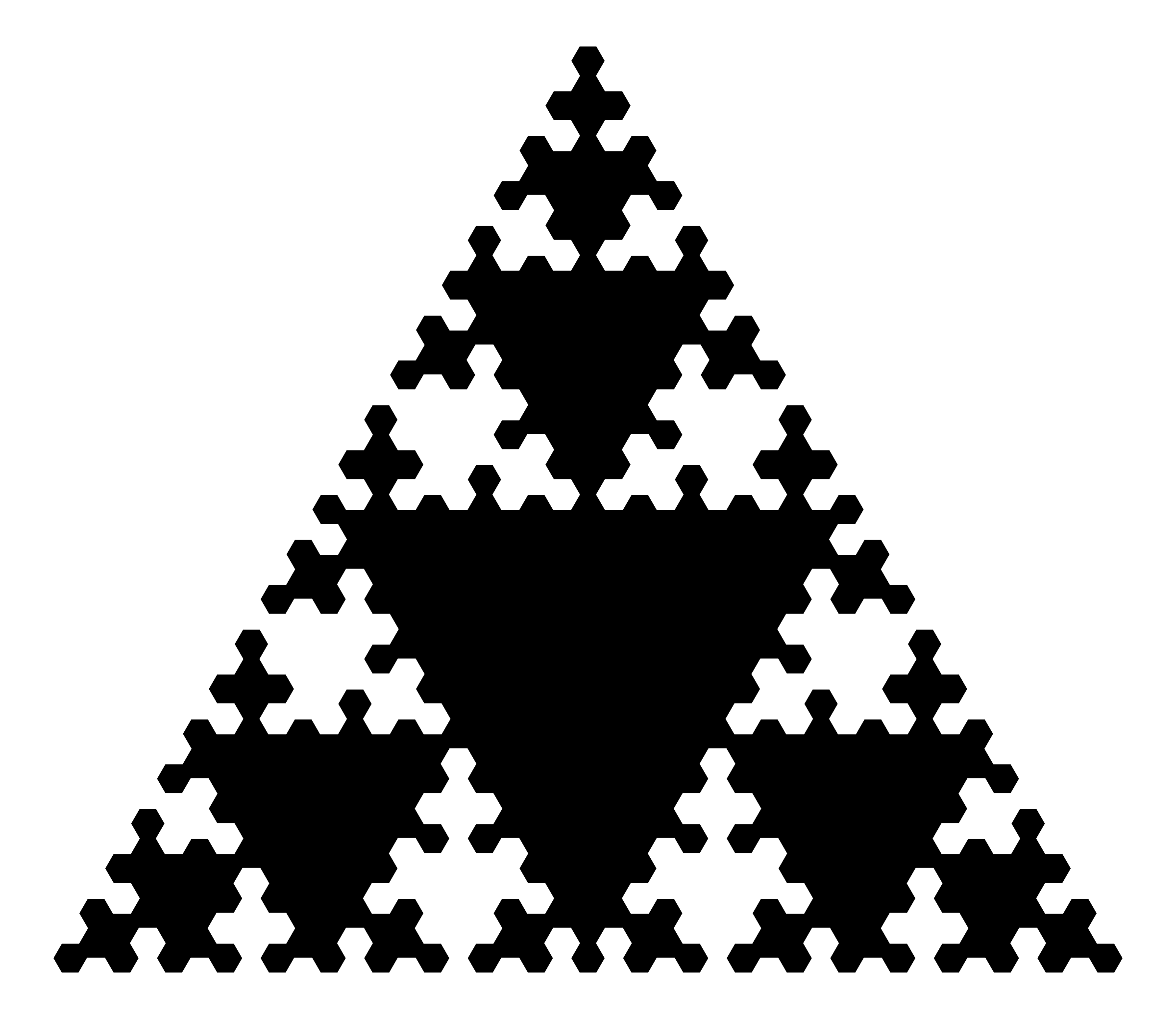 Sierpinskis Triangle by kevinalle