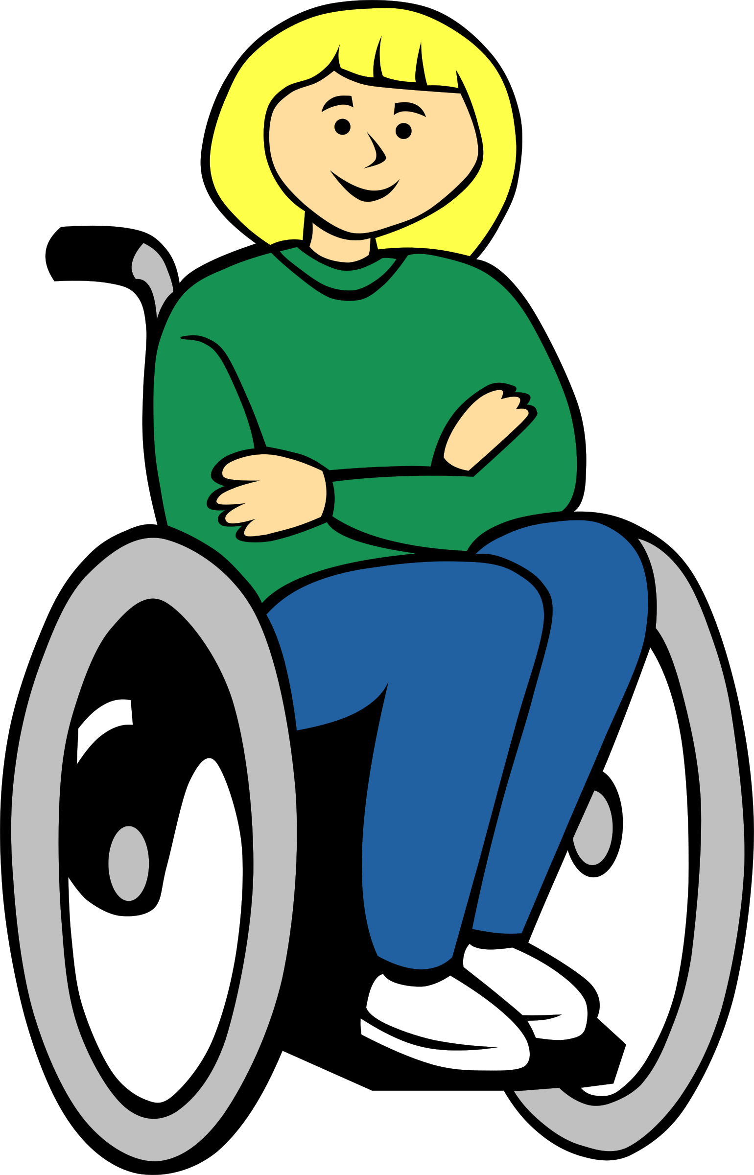 Girl in wheelchair by Gerald_G