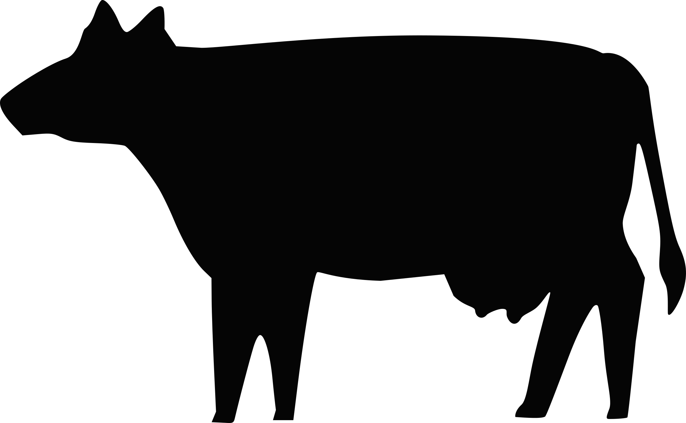 Cow Silhouette by Boort
