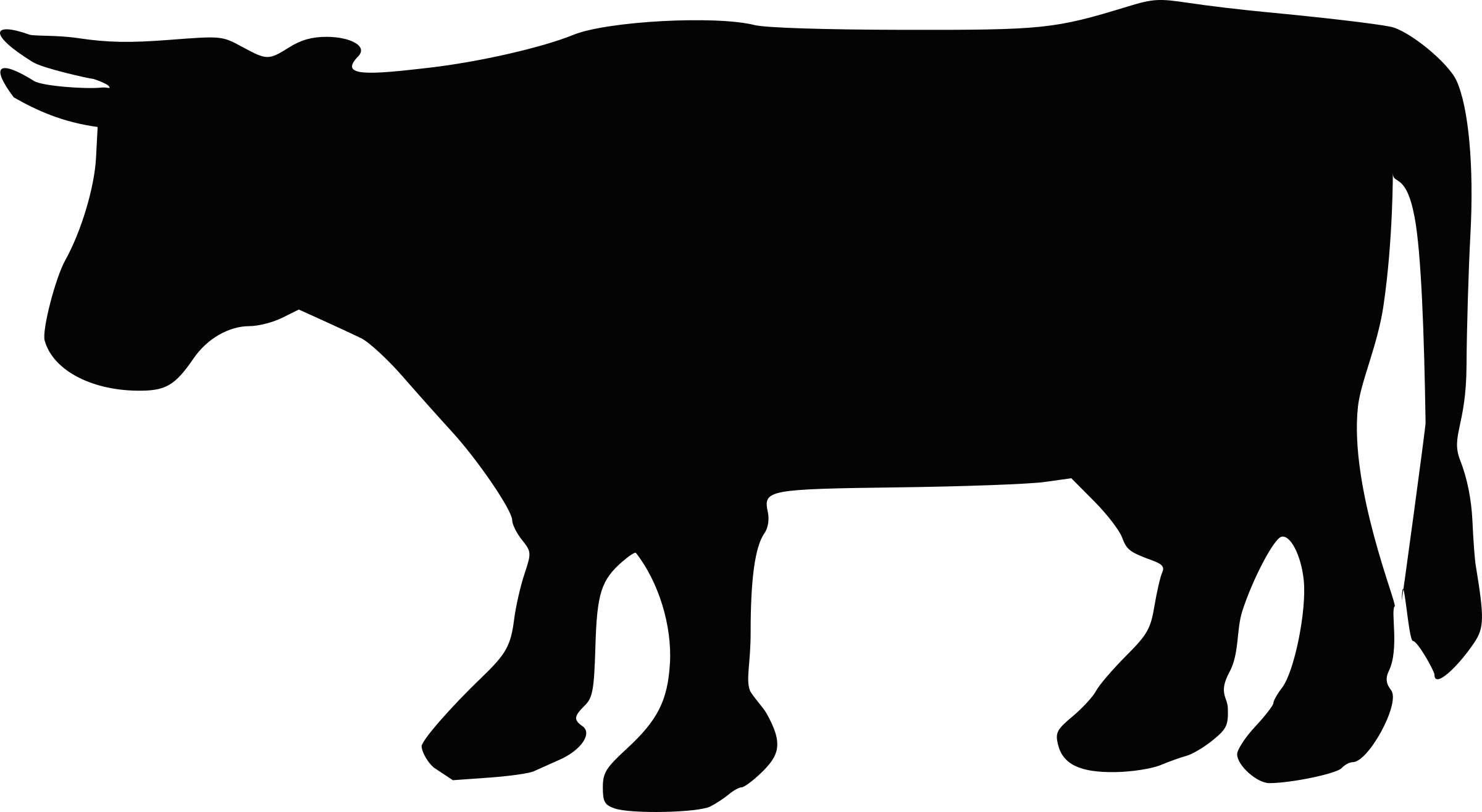 Cow Silhouette 2 by Boort