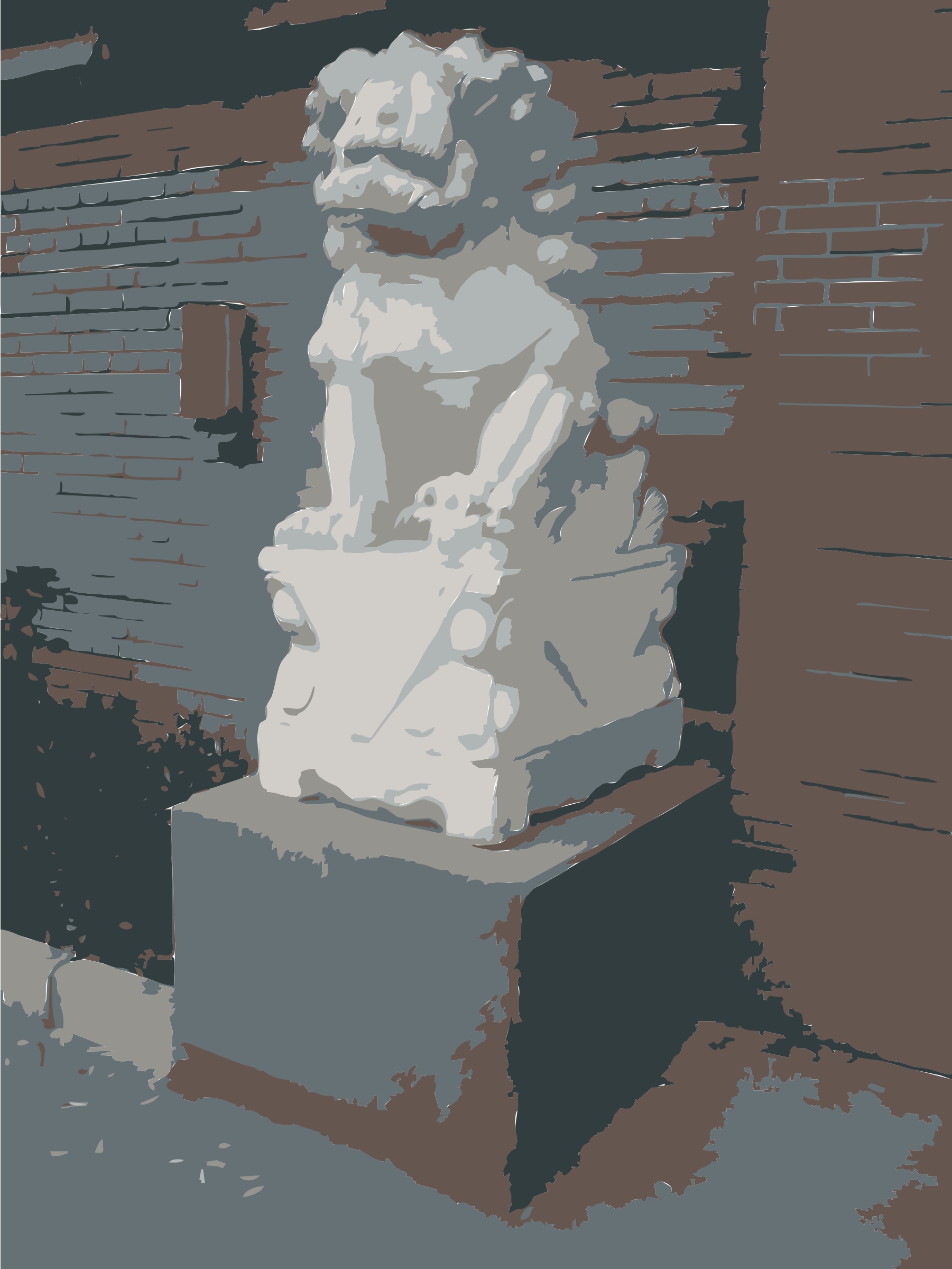 Chinese Guard Lion Statue outside AiWeiWei Studio by rejon