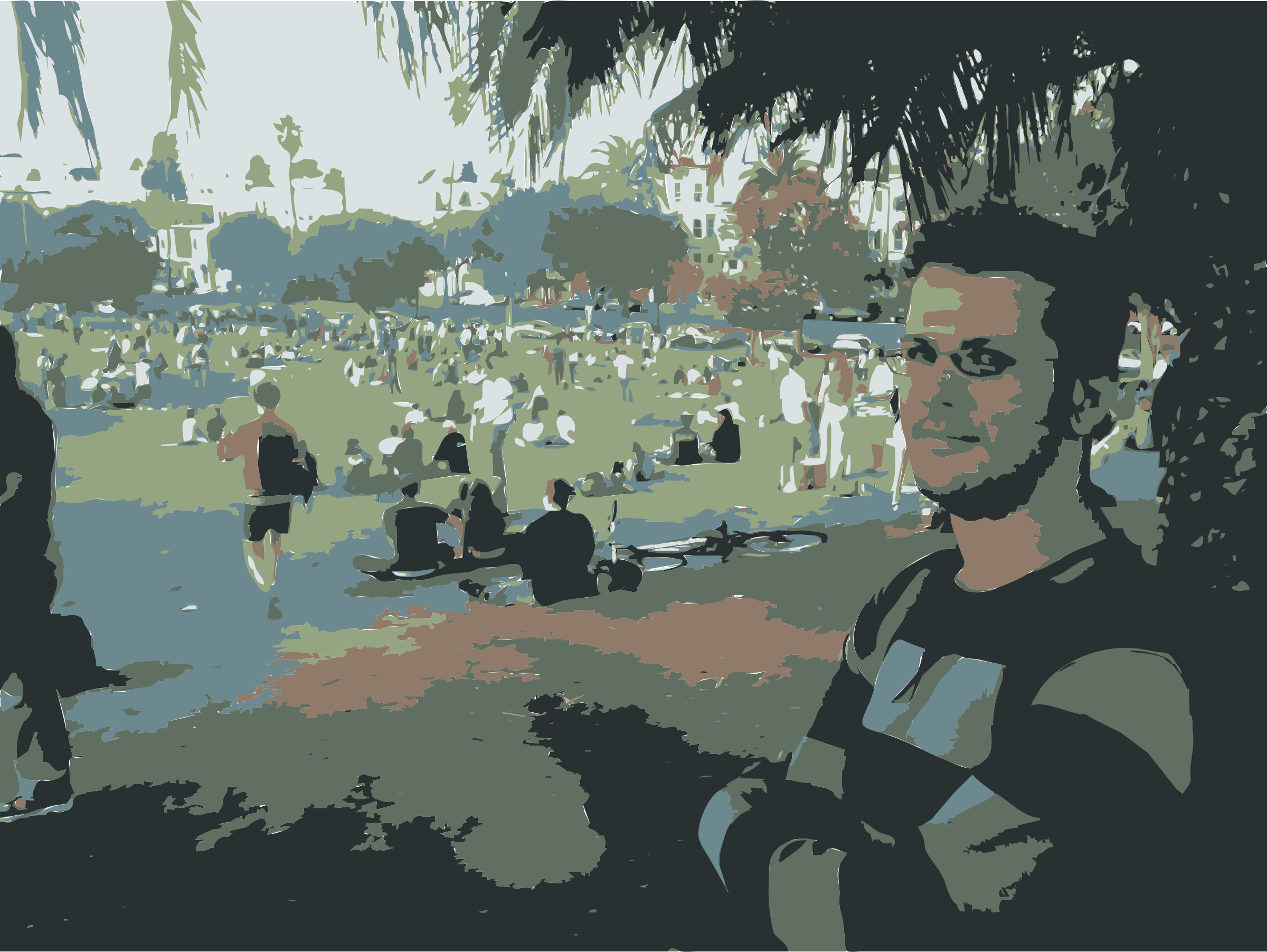 Nicky Bourque in Dolores Park San Francisco by rejon