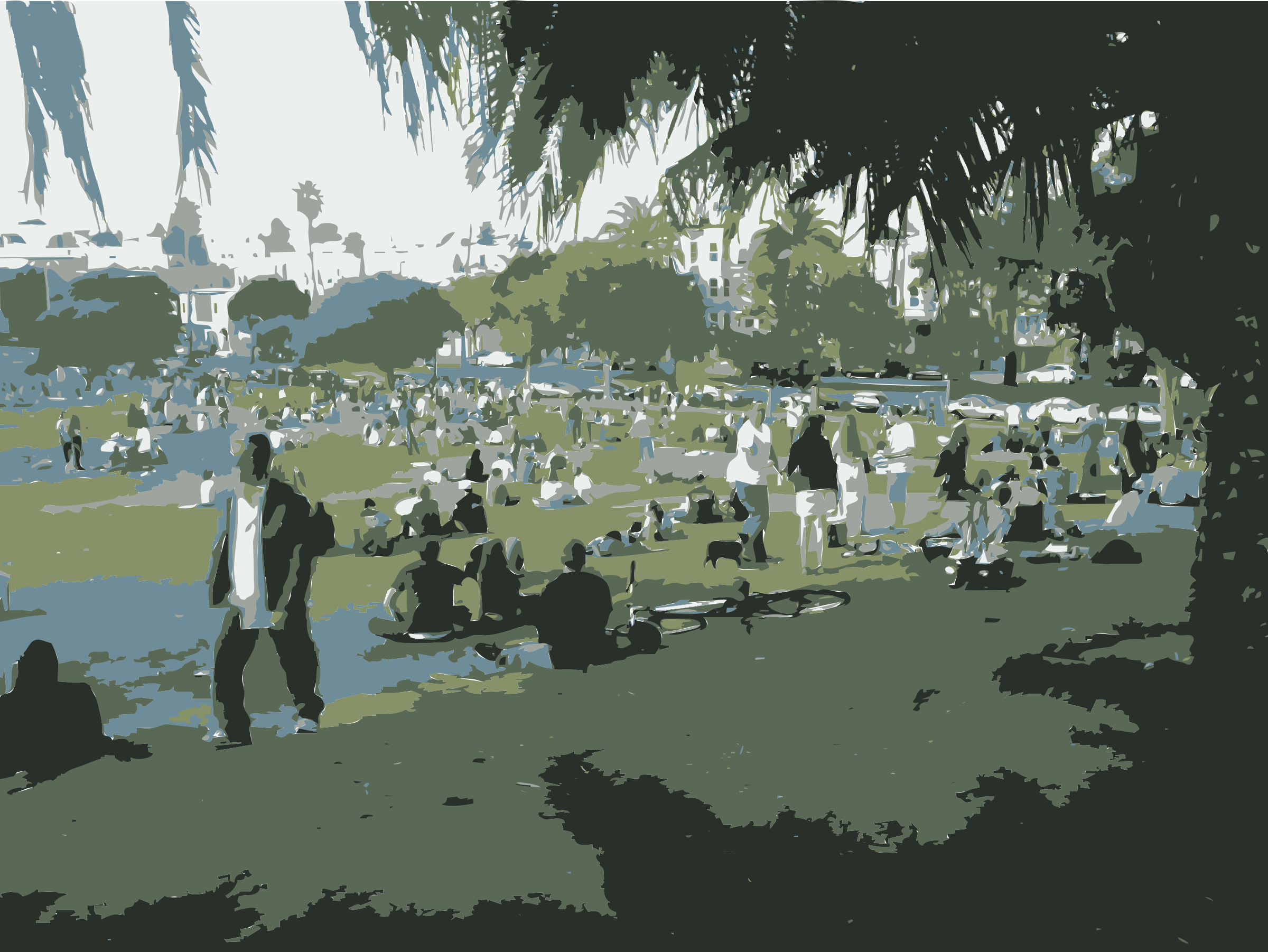 Dolores Park Poster San Francisco by rejon