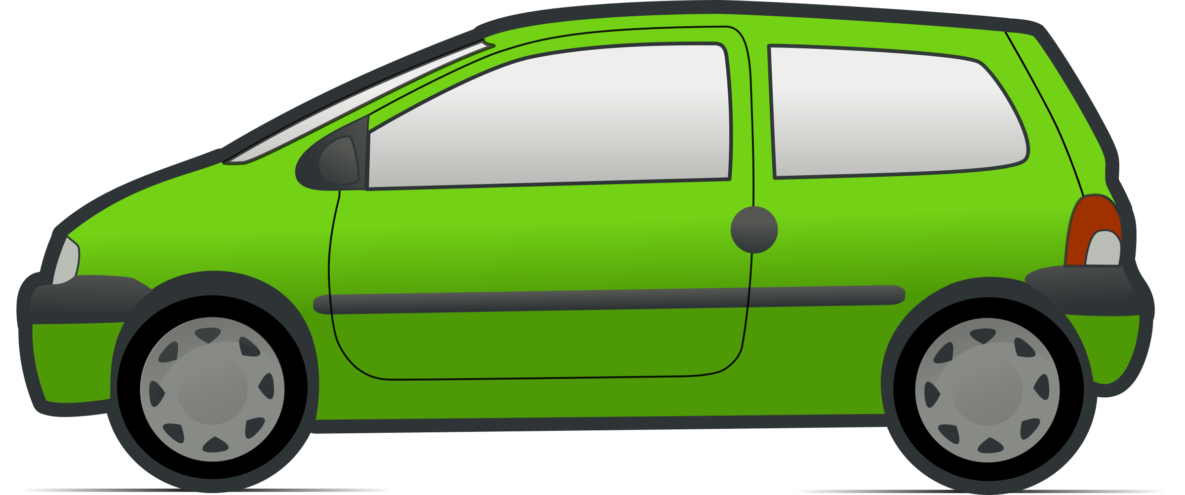red and green renault twingo 3 by molumen
