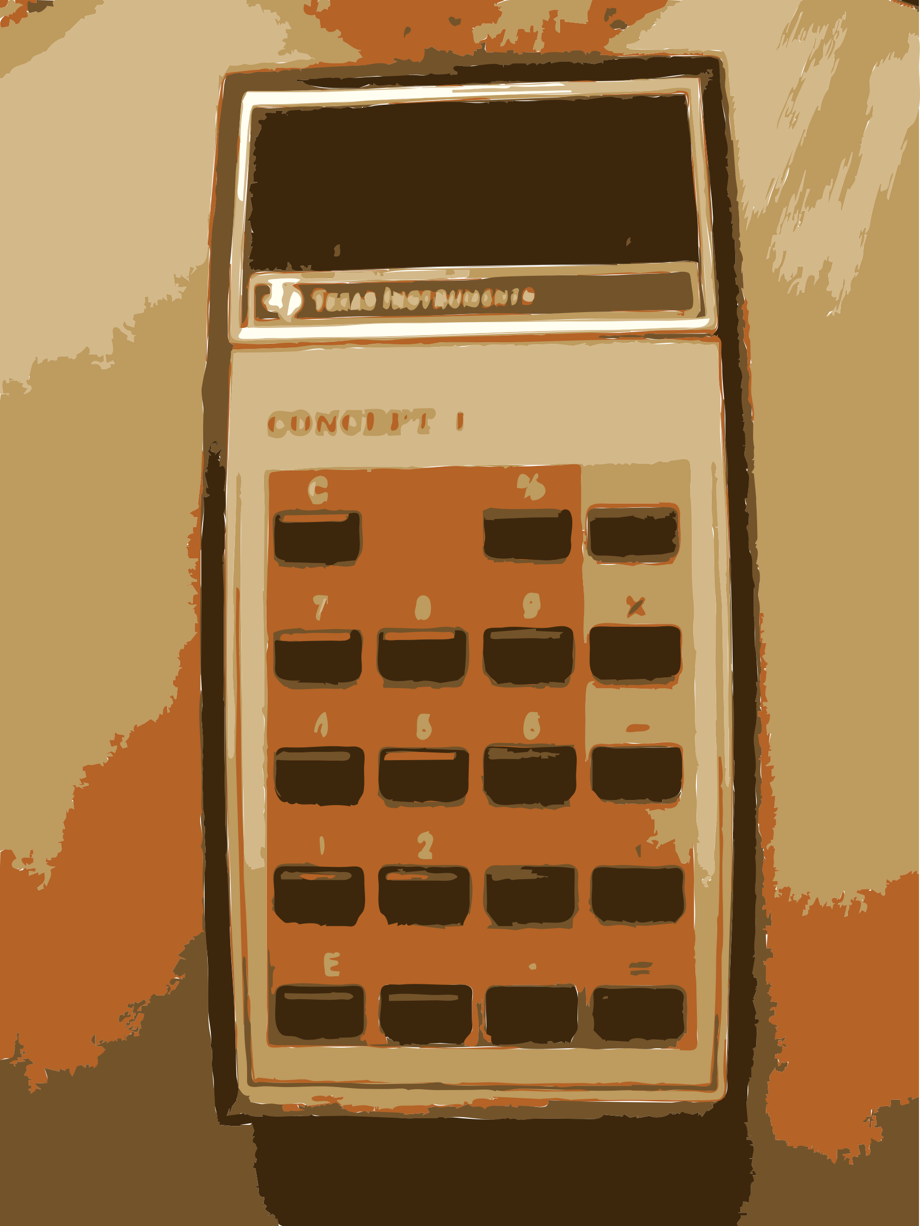 Grandma old TI Calculator by rejon