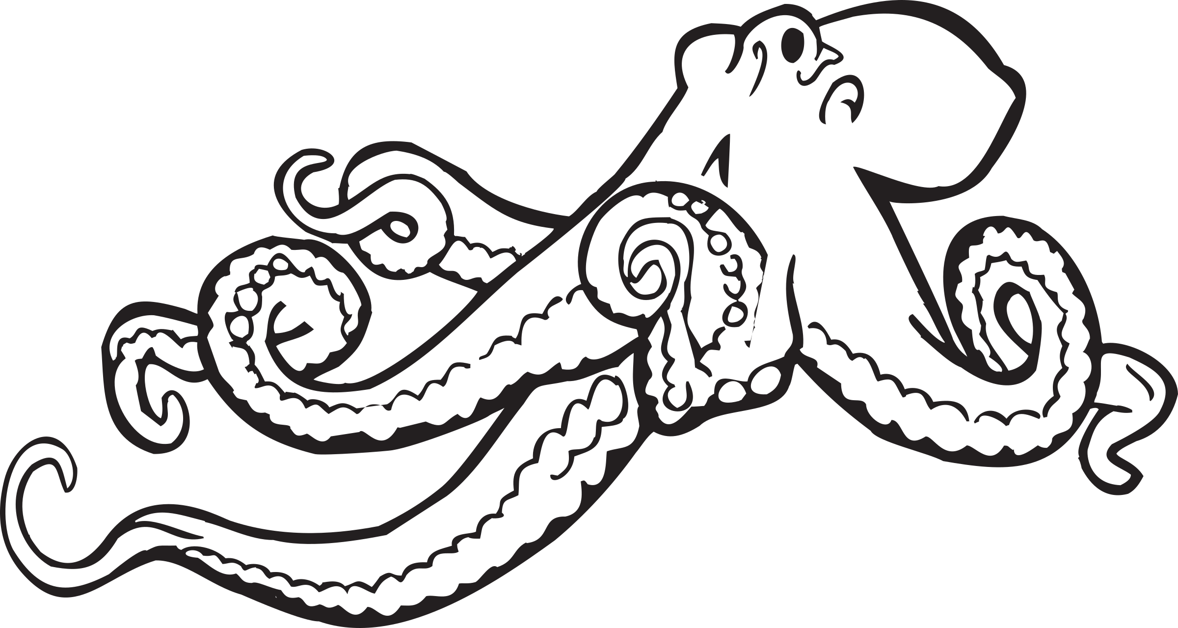 Coloring Book Octopus by FunDraw_dot_com