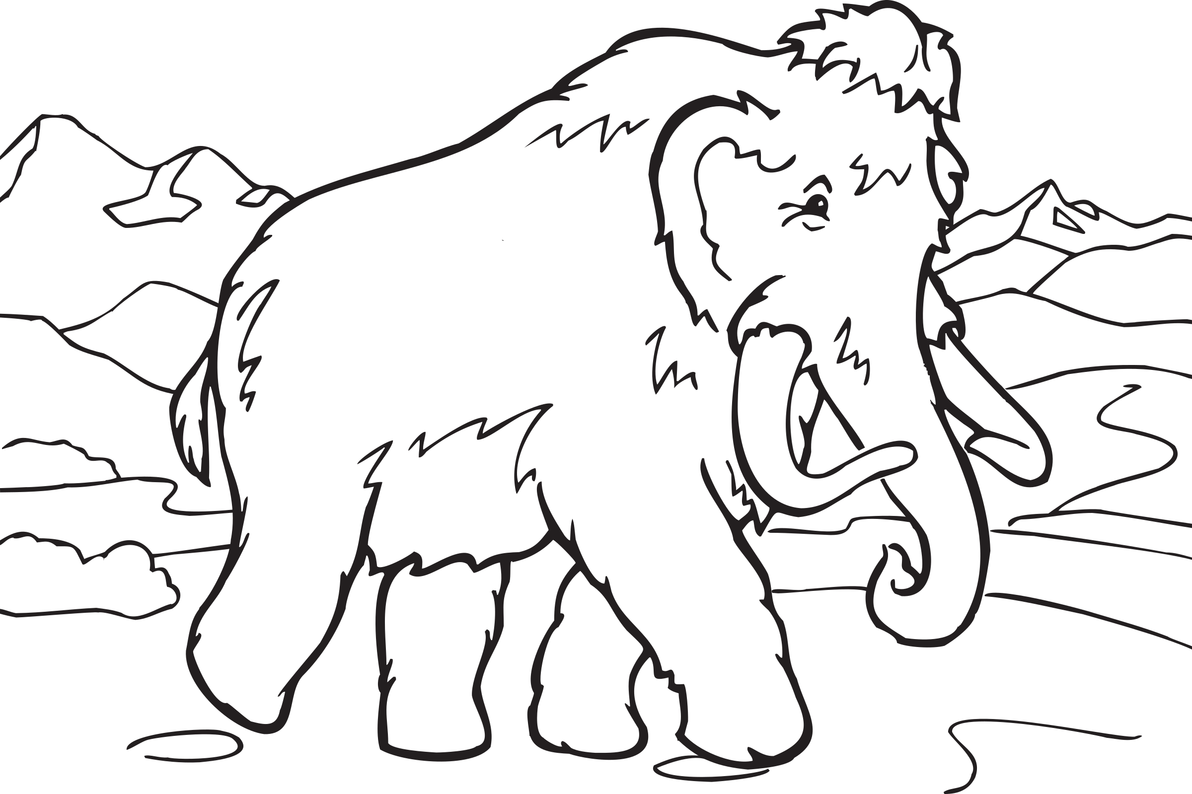 Coloring Book Mammoth by FunDraw_dot_com