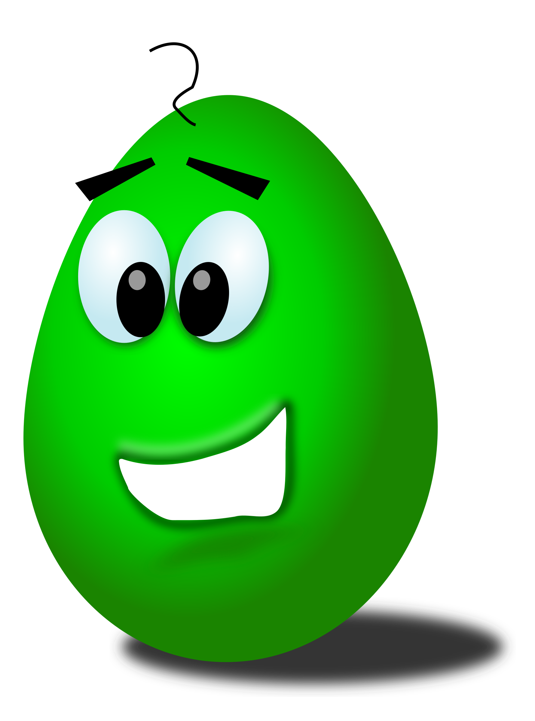green comic egg by Chrisdesign
