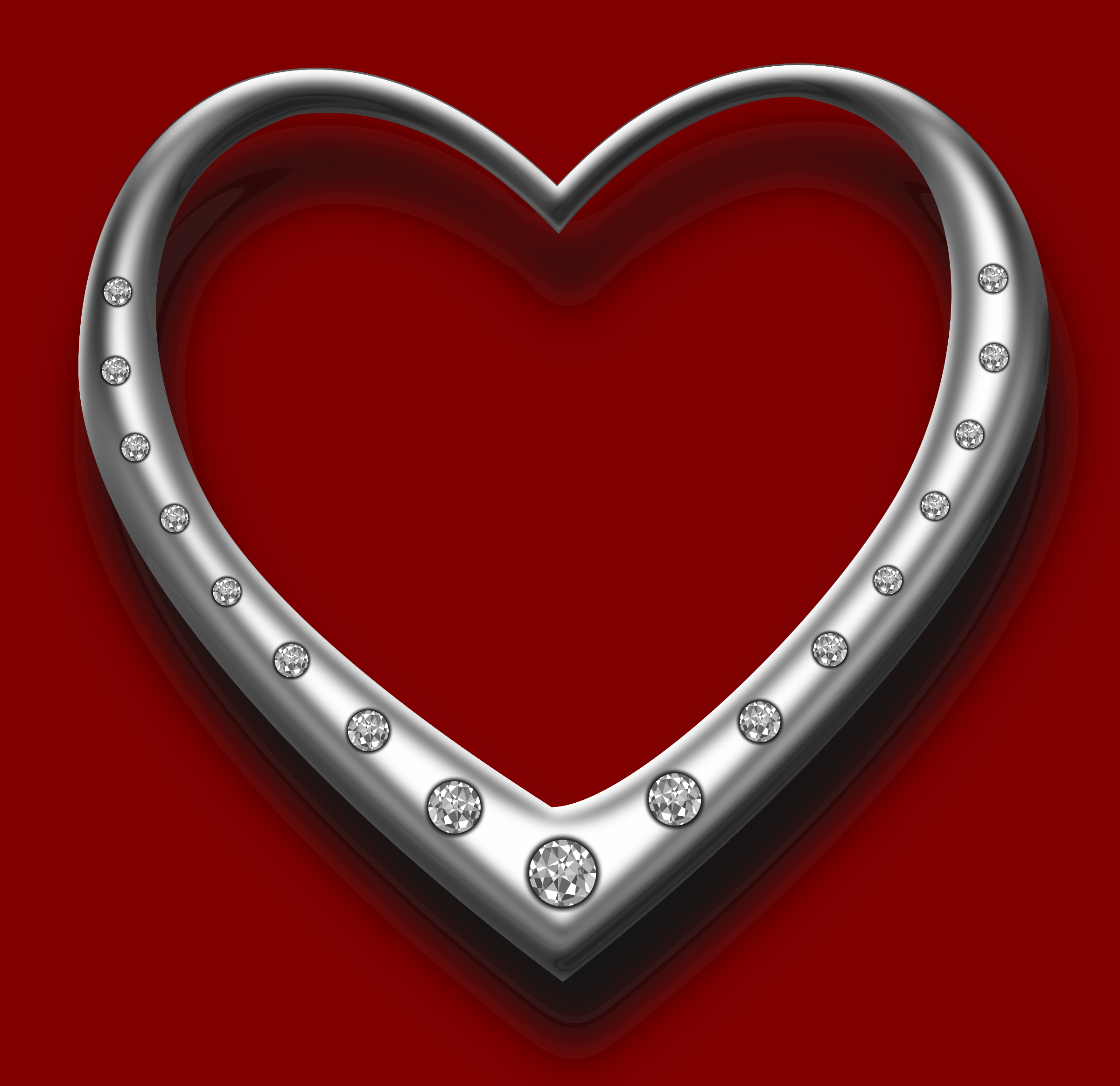 Heart with diamonds by Chrisdesign