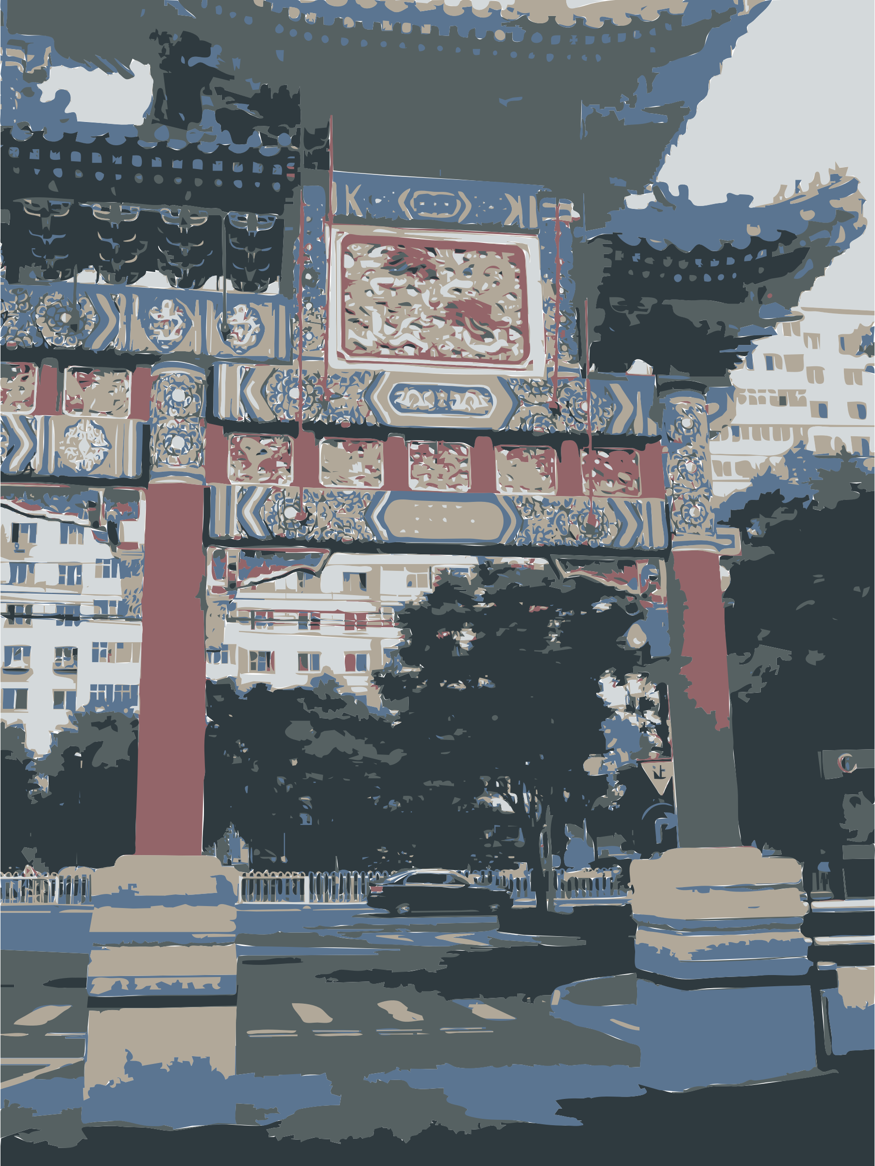 Chinese Pagoda in Beijing by rejon