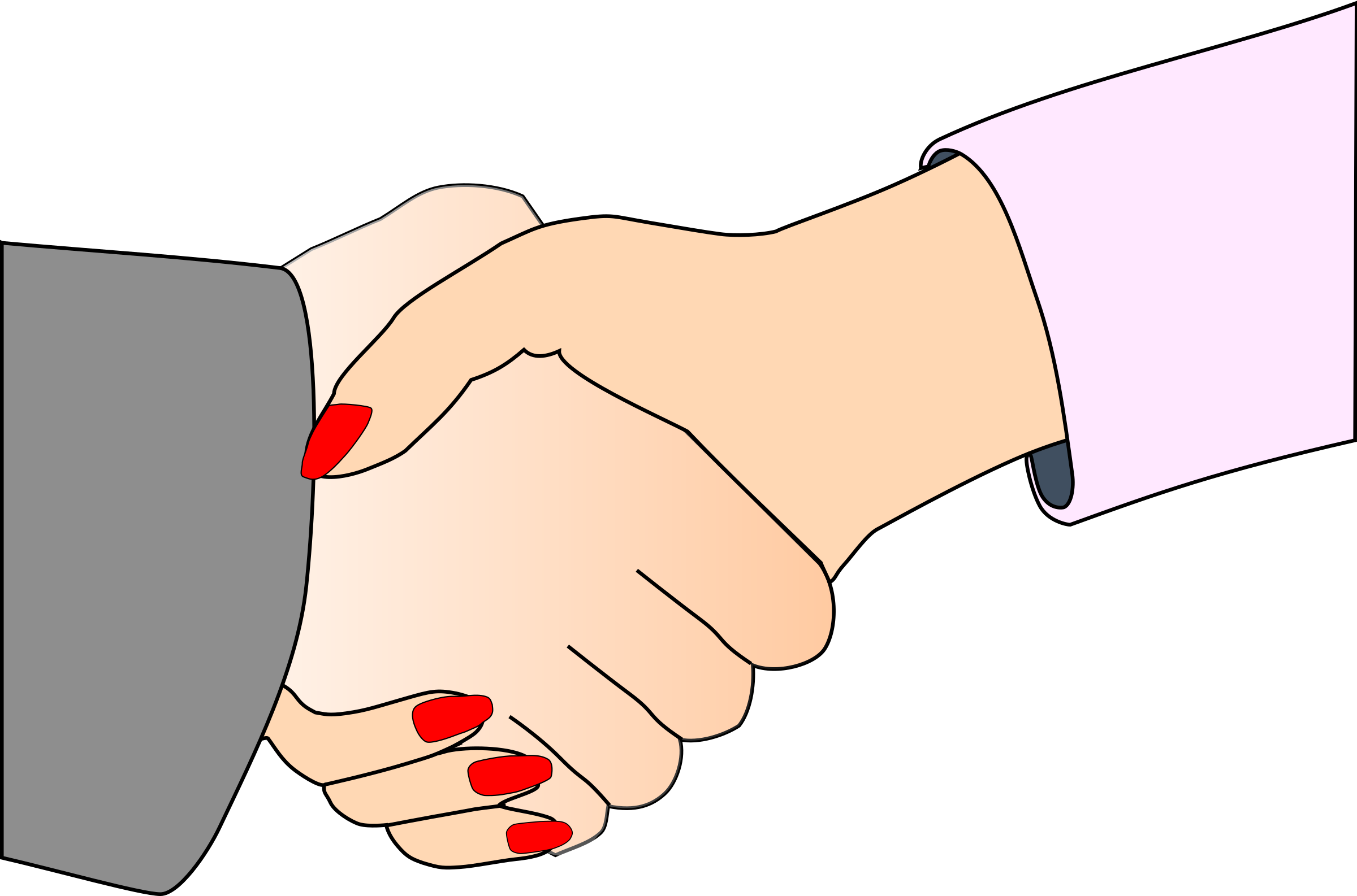 Handshake with Black Outline (white man and woman) by palomaironique