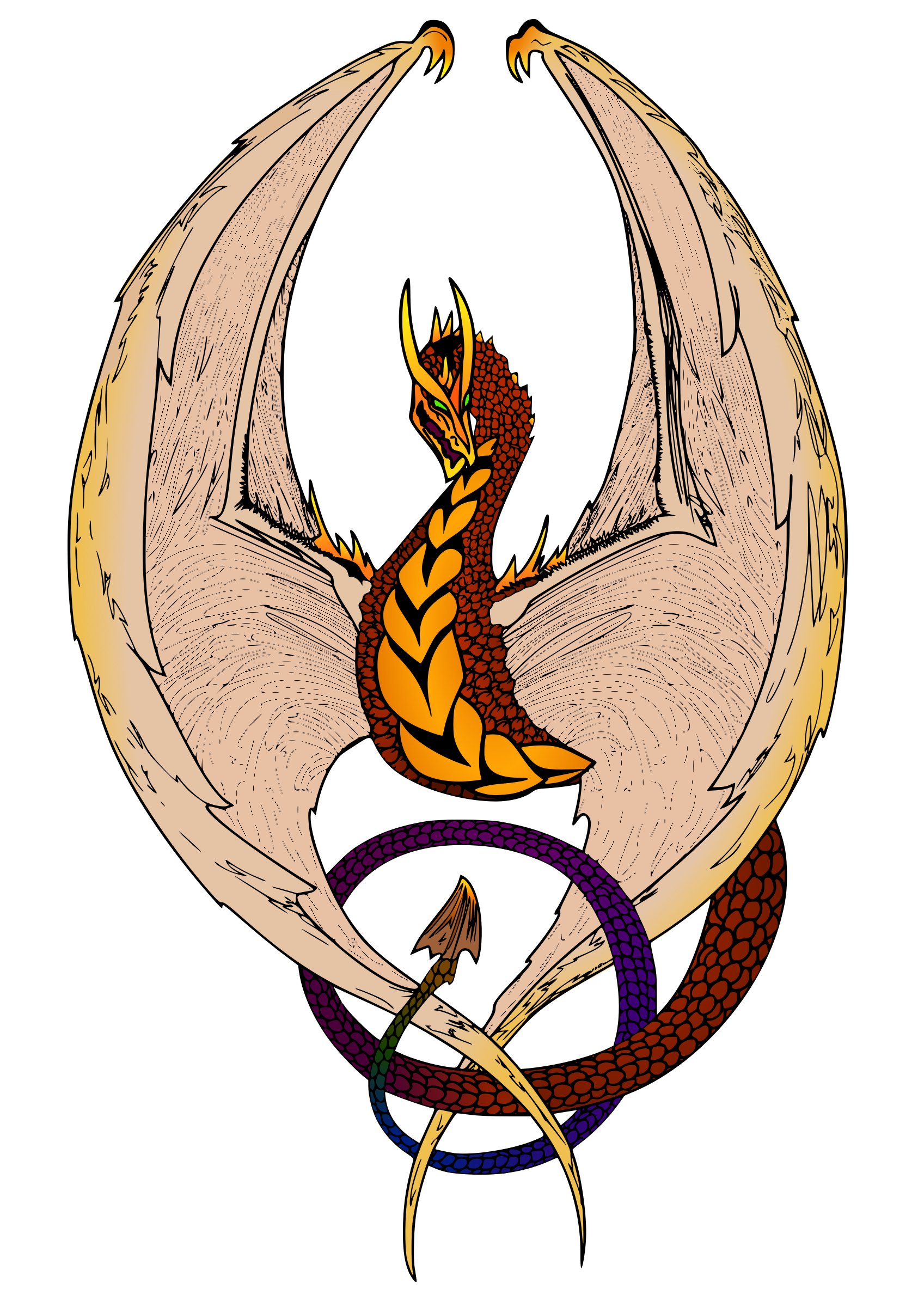 Wyvern (in color) by eady