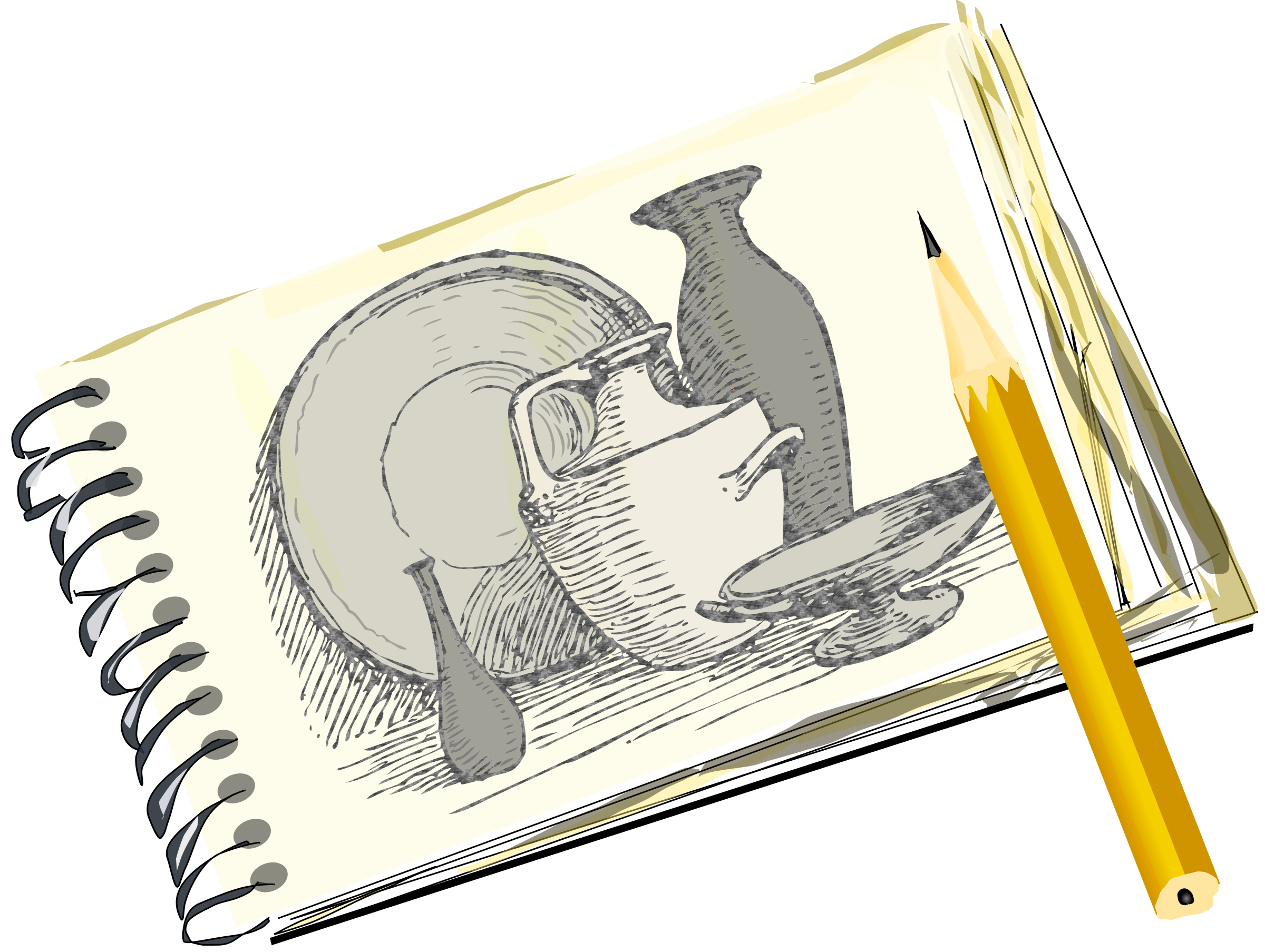 Sketchpad with Still Life by eady