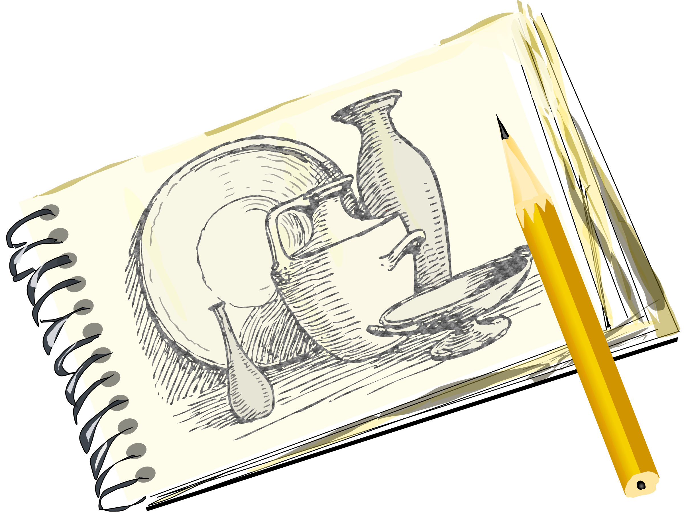 Sketchpad with Still Life, Unfilled by eady