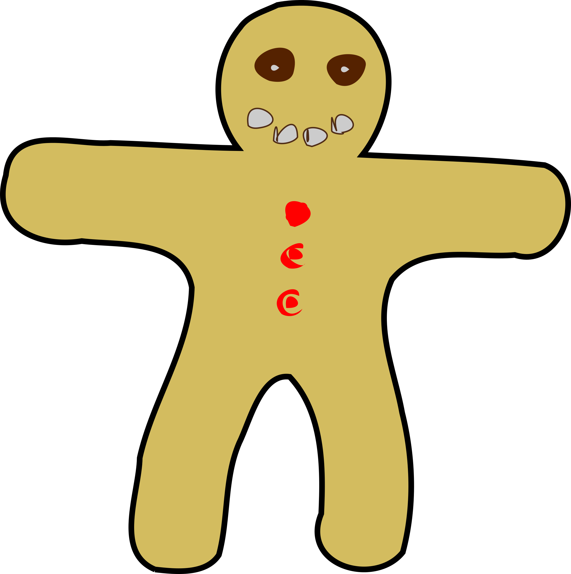 Gingerbread Man by mazeo
