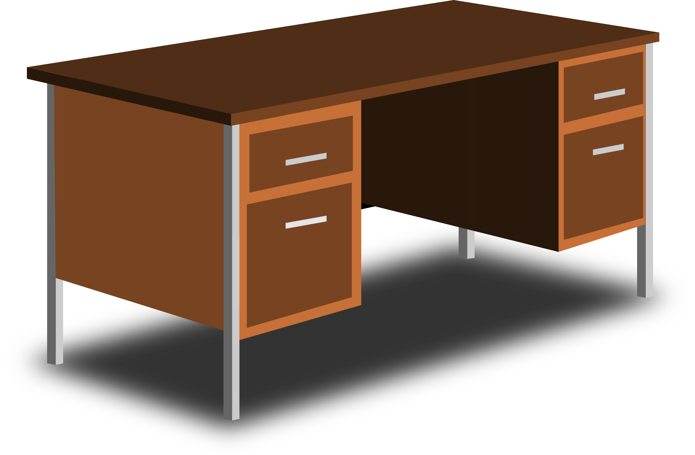 Clipart an office desk for Bureau transparent