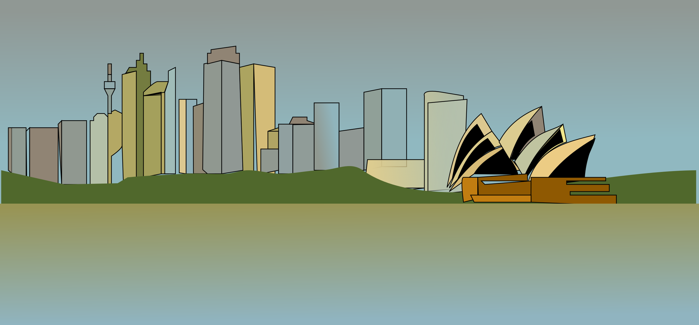 sydney skyline by netalloy