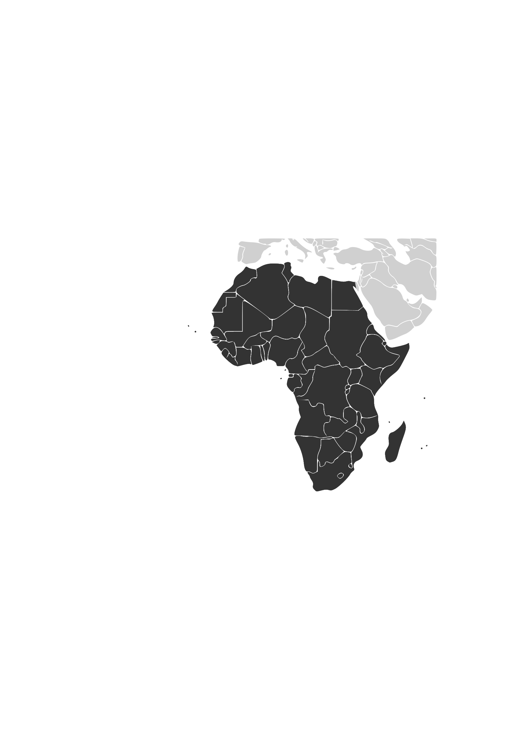 Africa continent by afk
