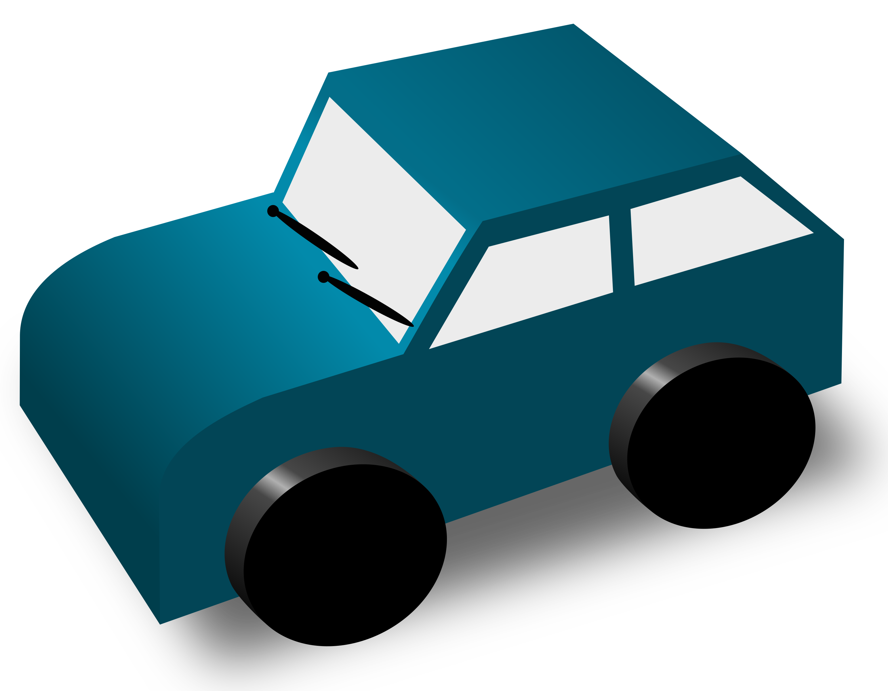 Clipart - Cartoon Car (3086 x 2400 Pixel)