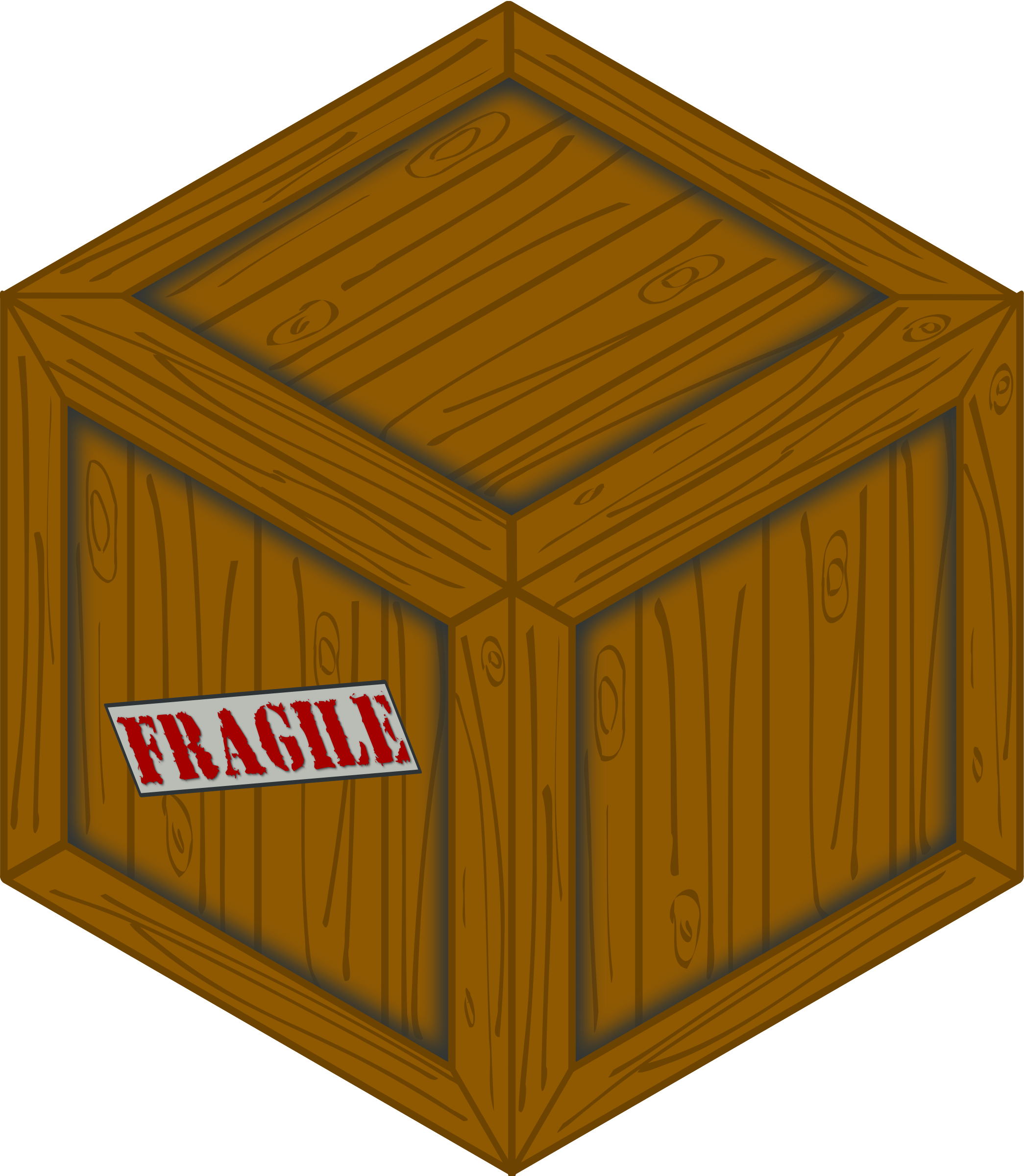 Isometric wooden crate by Erulisseuiin