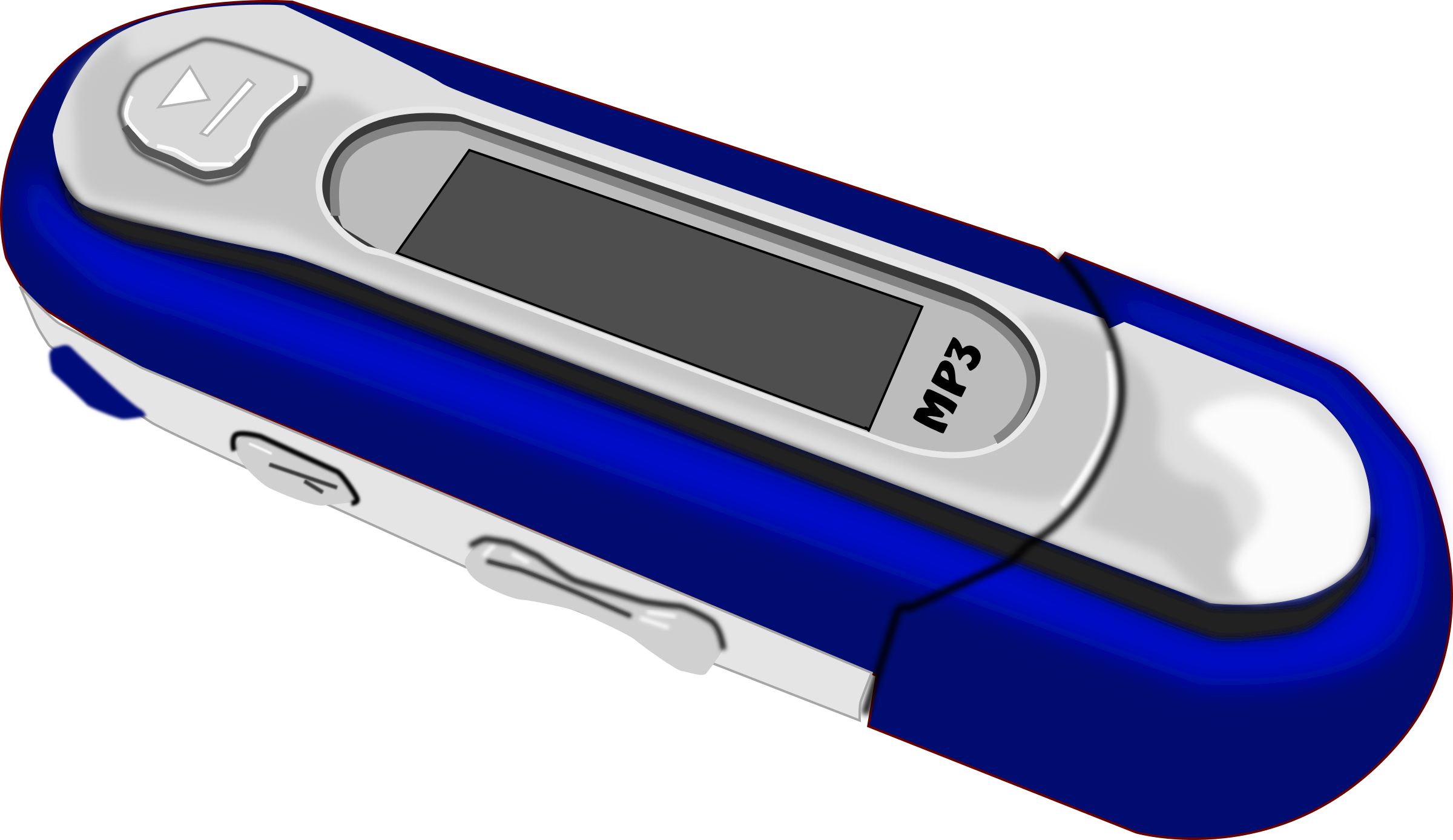 A Blue old style MP3 Player by mystica